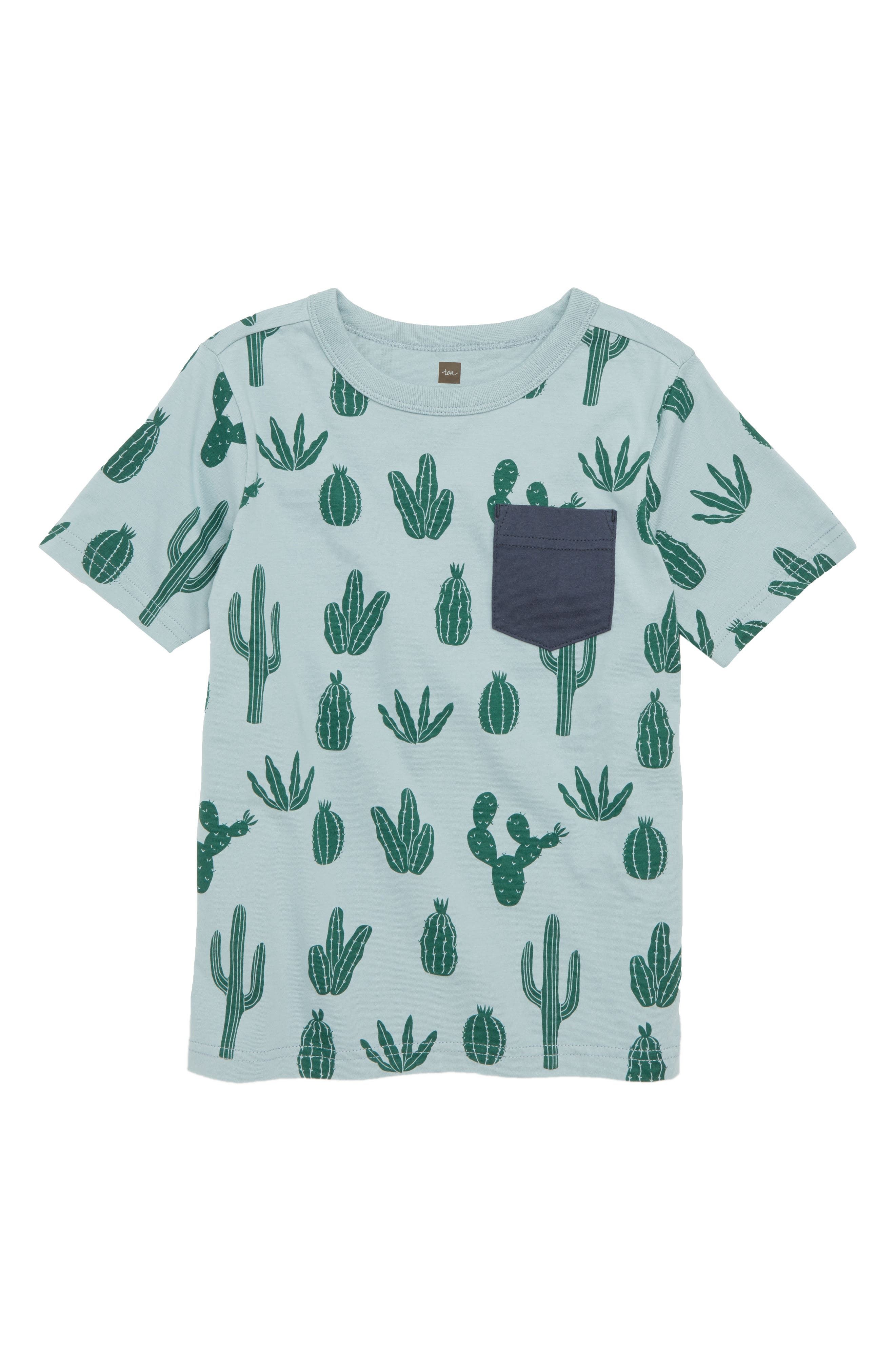 Fish Graphic Pocket T-Shirt,                         Main,                         color, Classic Cactii