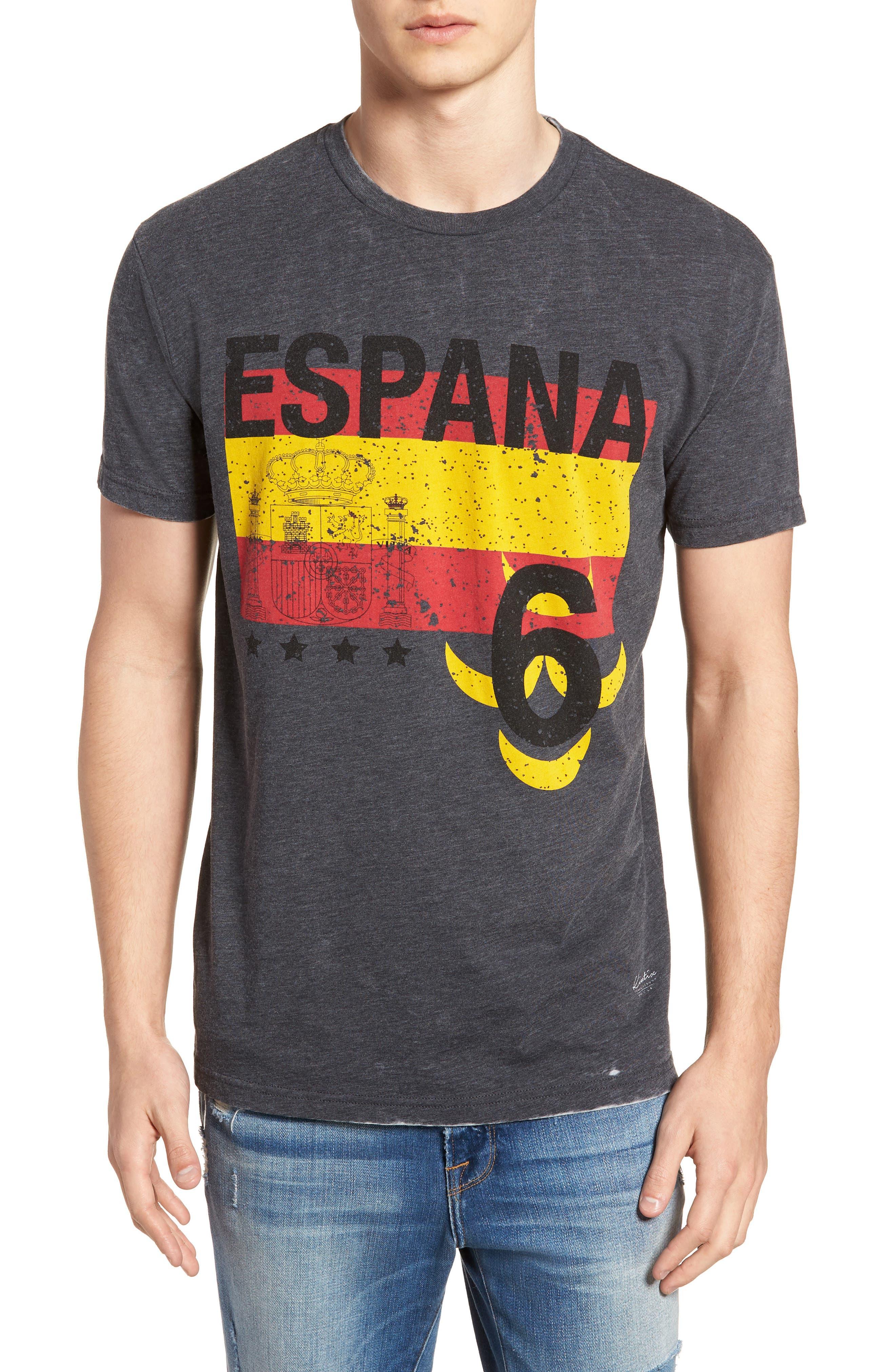 Spain Jersey T-Shirt,                             Main thumbnail 1, color,                             Grey