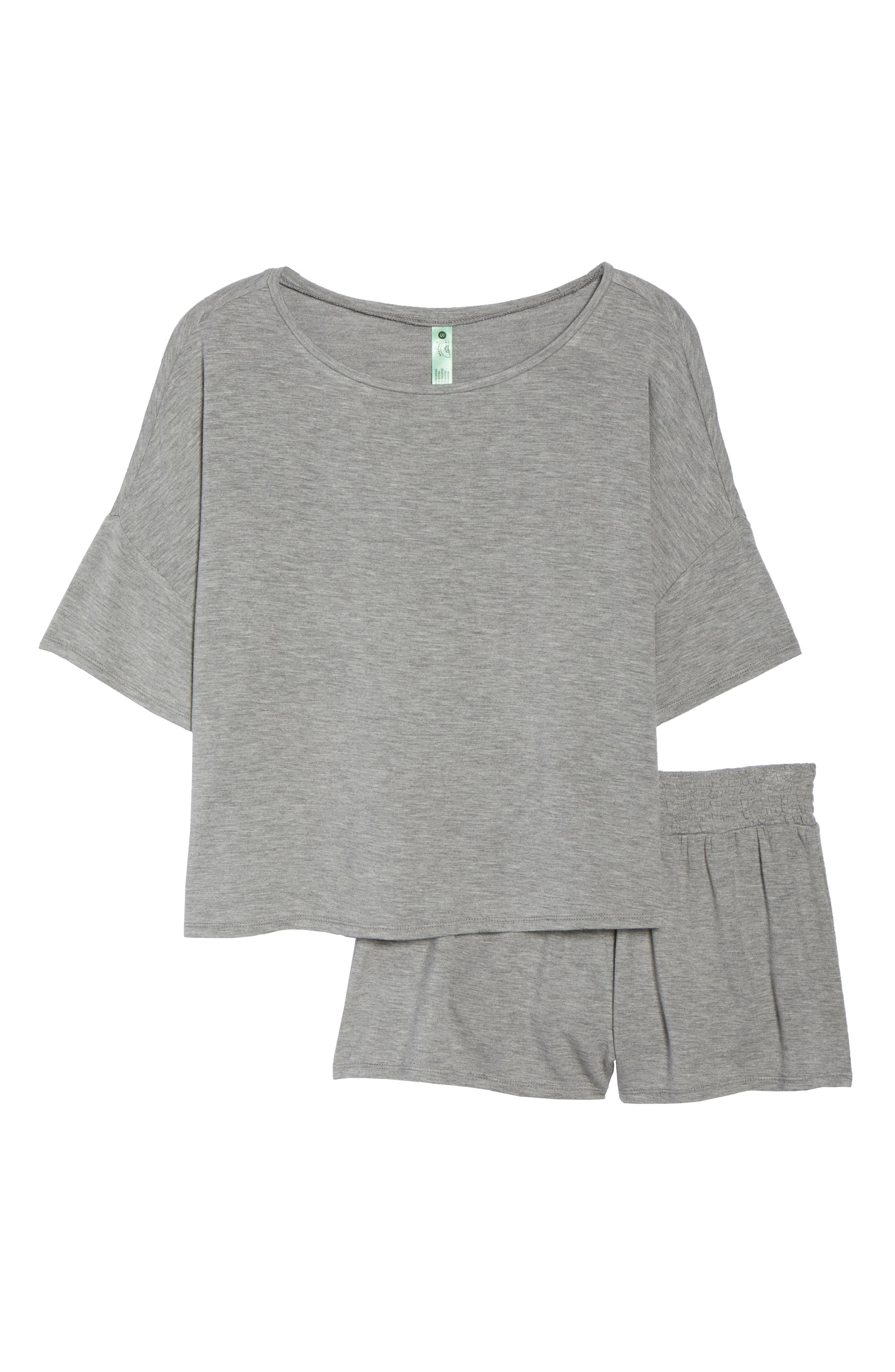 Short Pajamas,                             Alternate thumbnail 6, color,                             Heather Grey