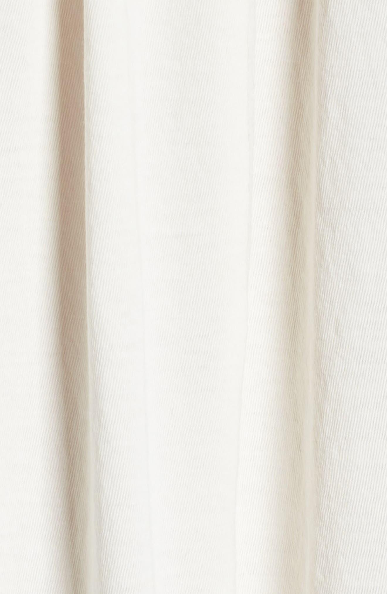 Blanche Pima Cotton Voile Sleep Shirt,                             Alternate thumbnail 5, color,                             Gardenia