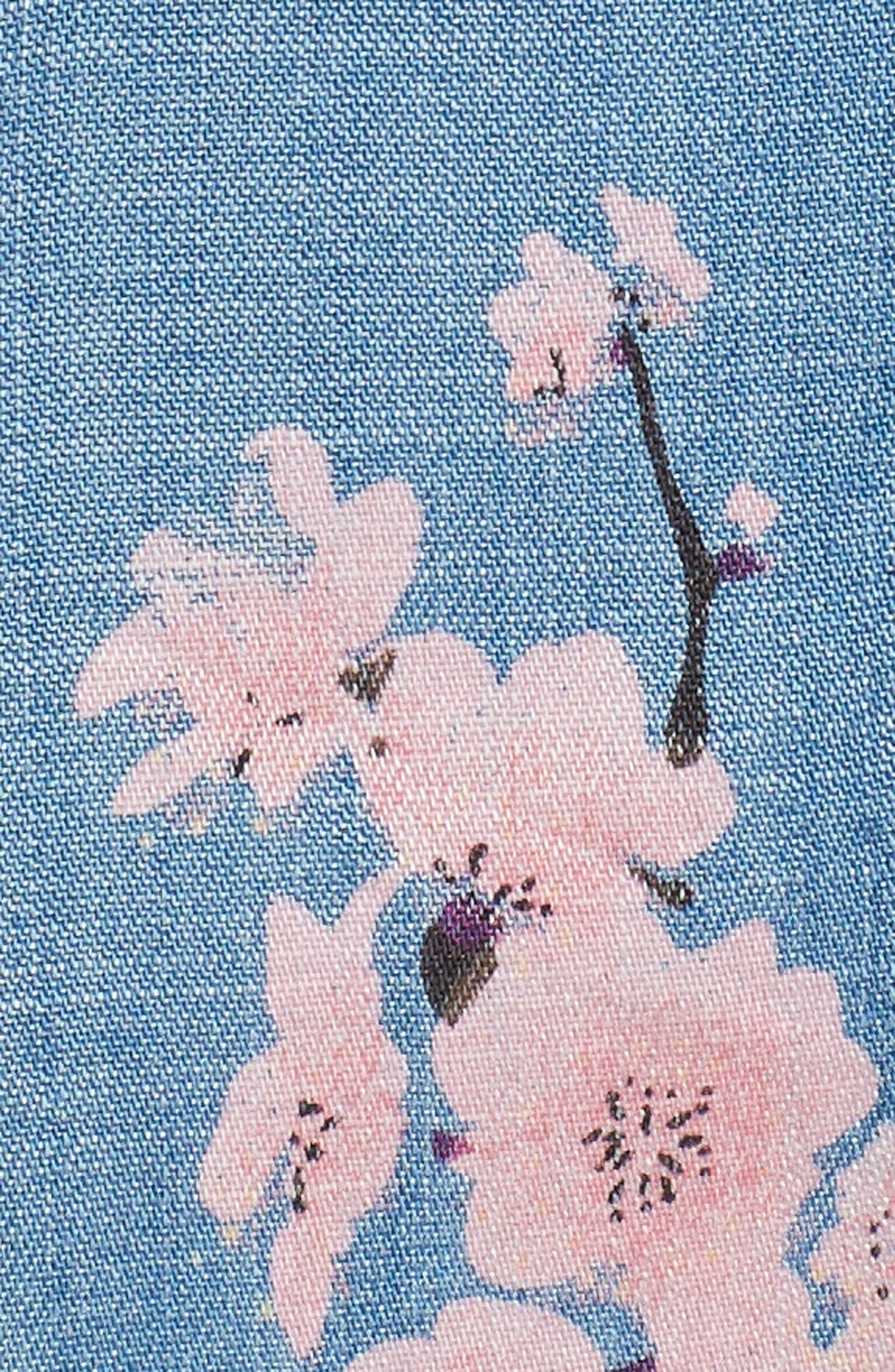 Cherry Blossom Kimono,                             Alternate thumbnail 4, color,                             Blue Cherry Blossom