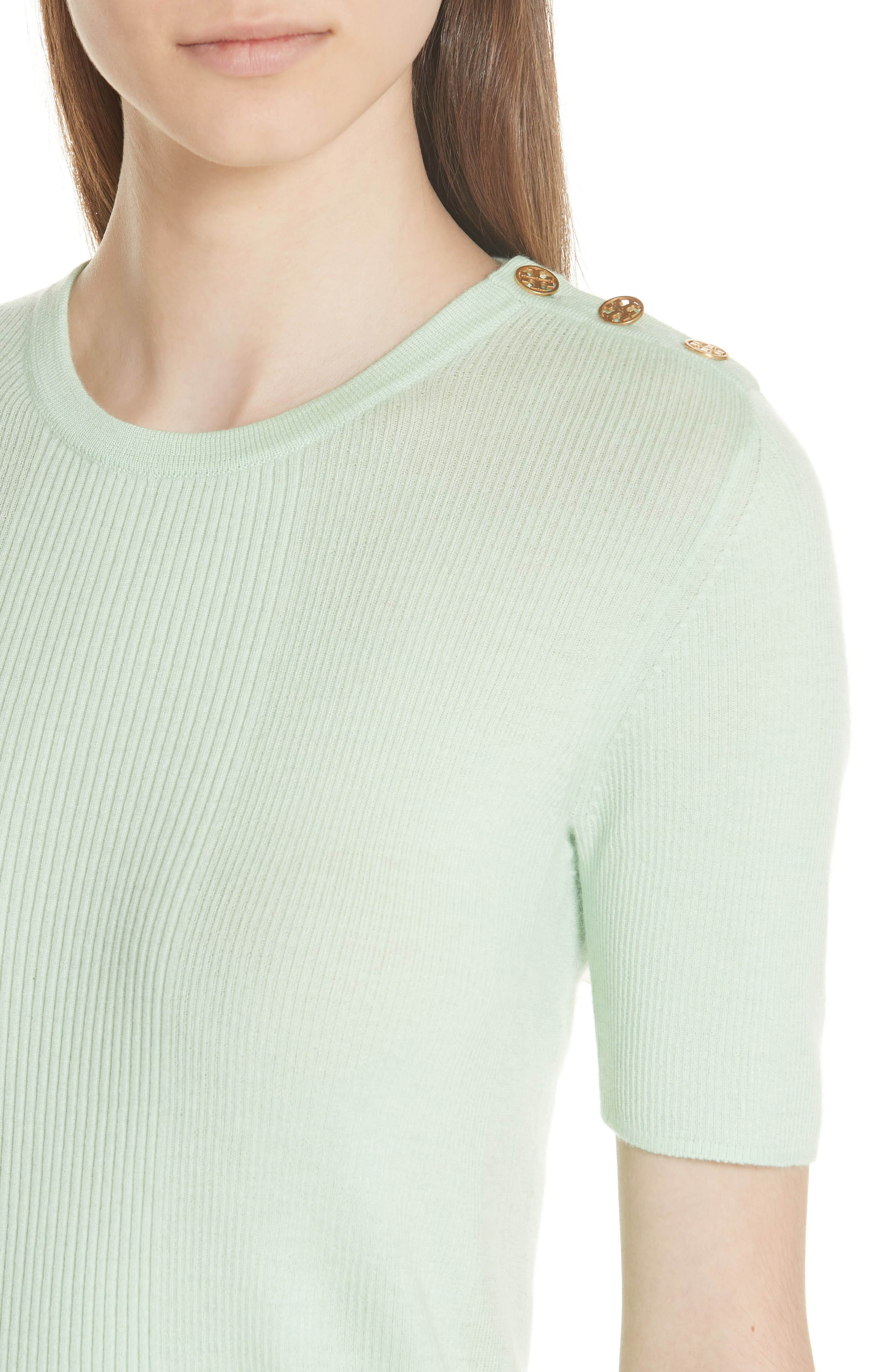 Taylor Ribbed Sweater,                             Alternate thumbnail 4, color,                             Crushed Mint