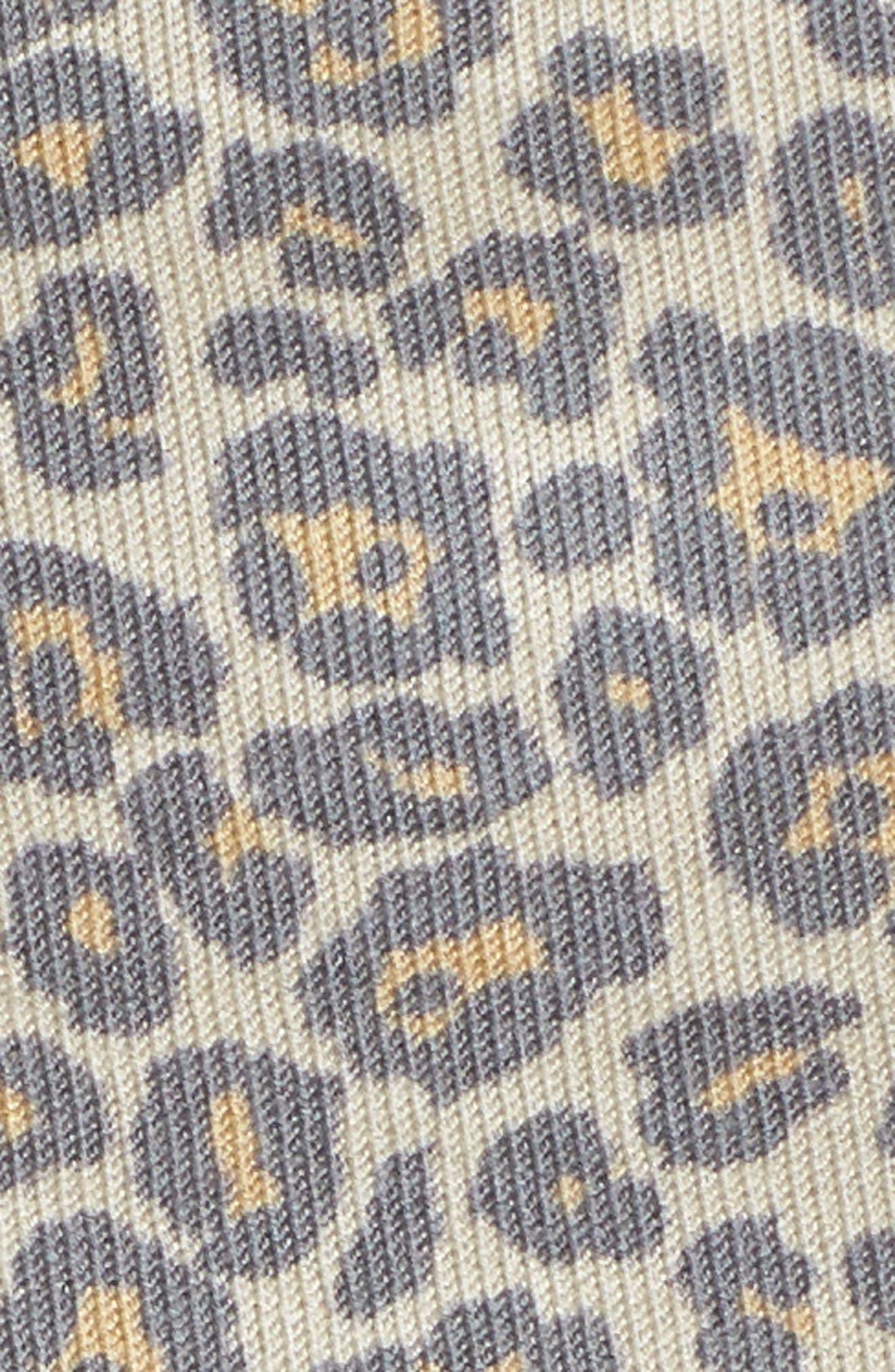 Leopard Print Sweatshirt,                             Alternate thumbnail 5, color,                             Beige Leopard