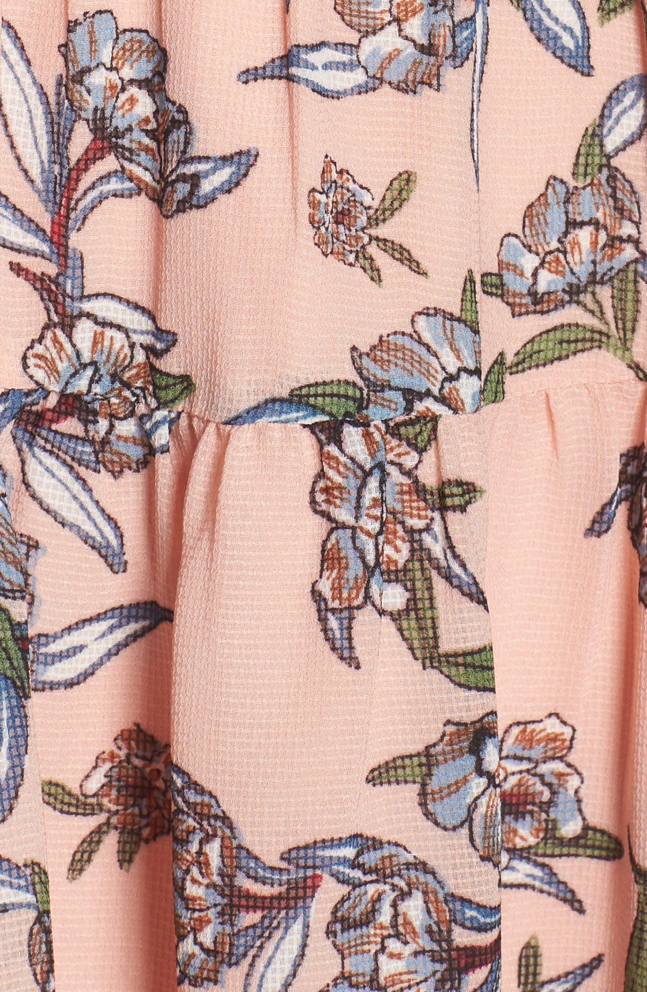 Jax Floral Dress,                             Alternate thumbnail 6, color,                             Blush