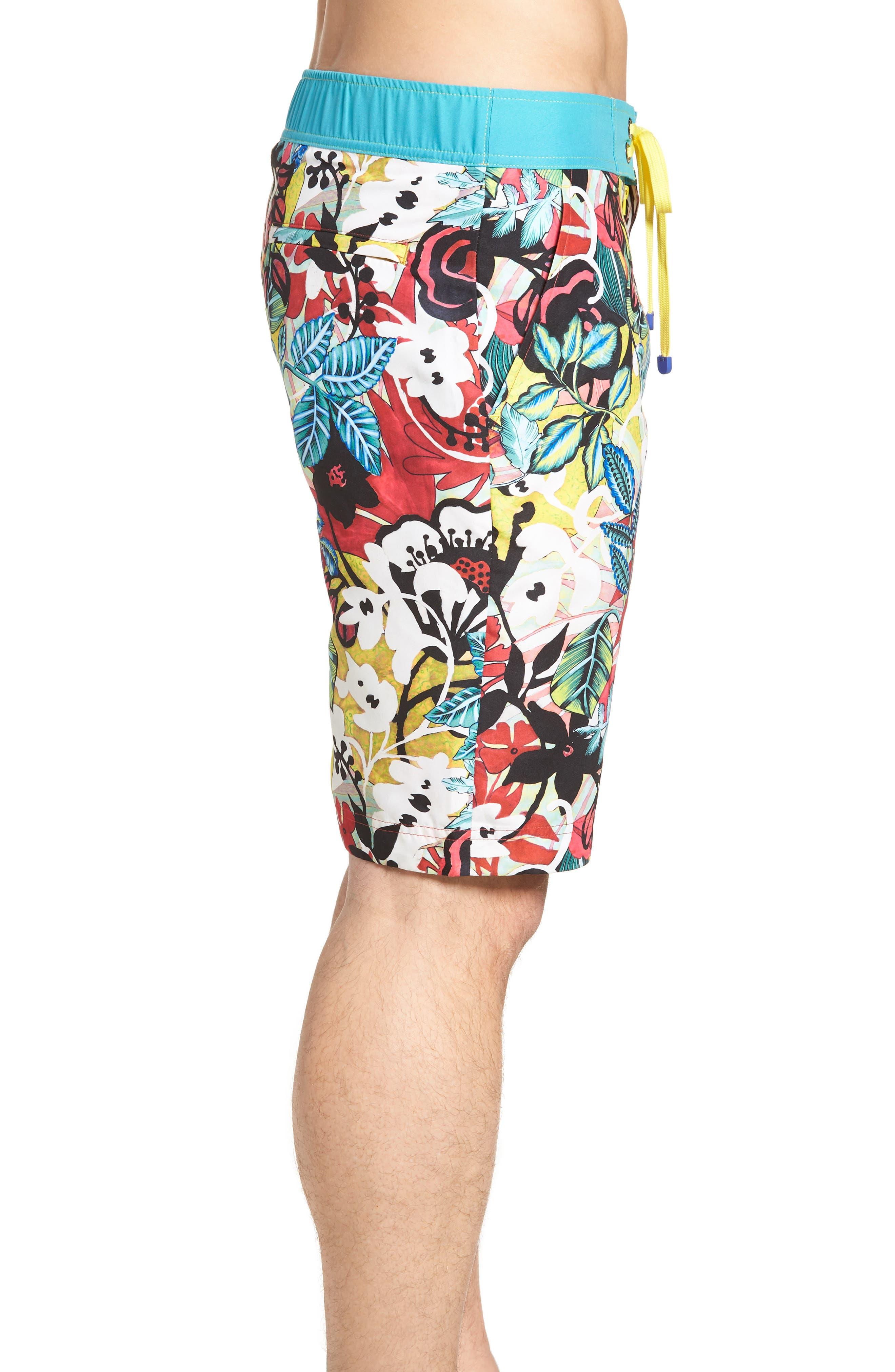 Barbarito Classic Fit Board Shorts,                             Alternate thumbnail 3, color,                             Multi