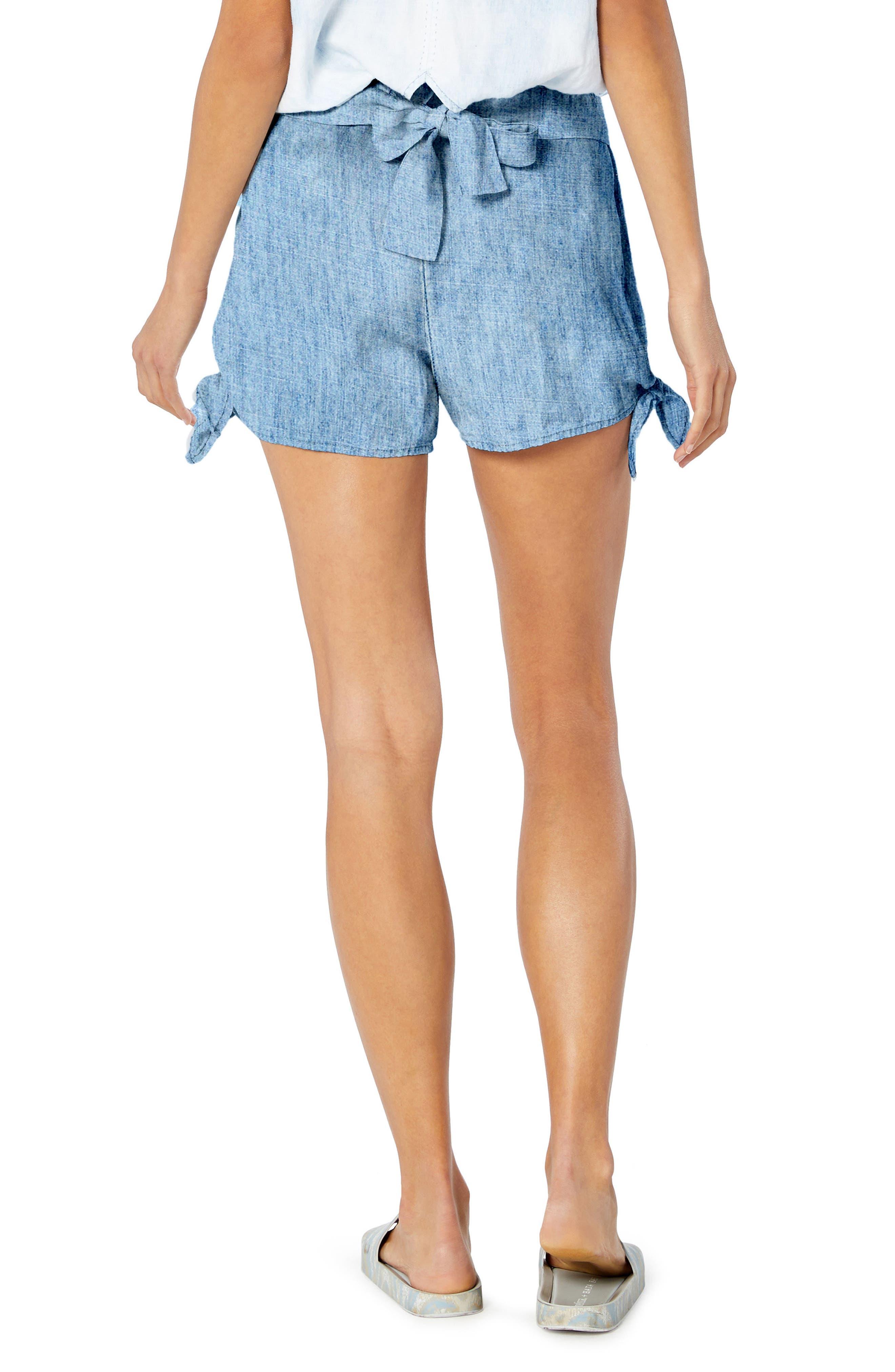 Side Tie Shorts,                             Alternate thumbnail 2, color,                             Marina