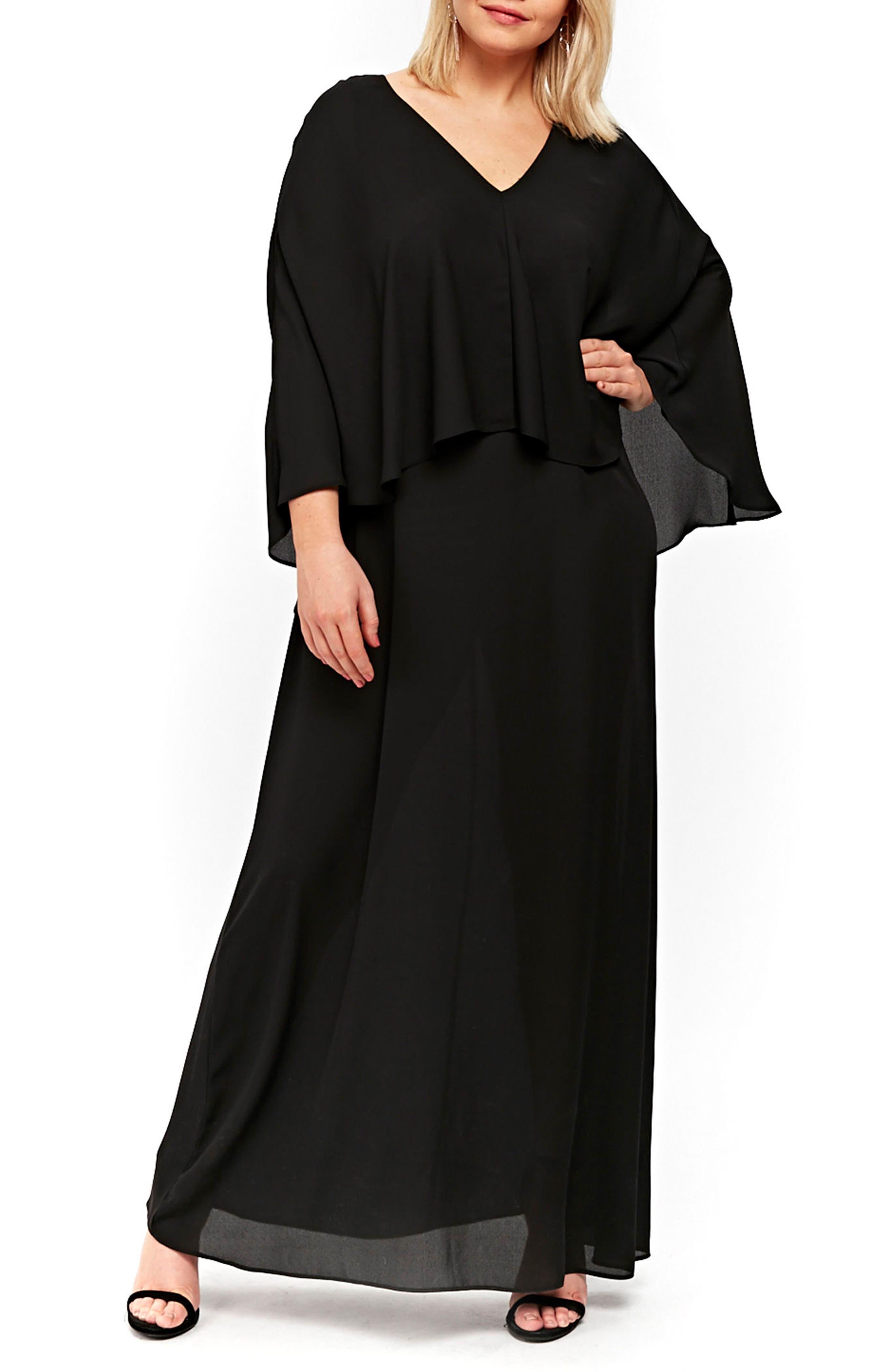 Evans Overlay Maxi Dress (Plus Size)