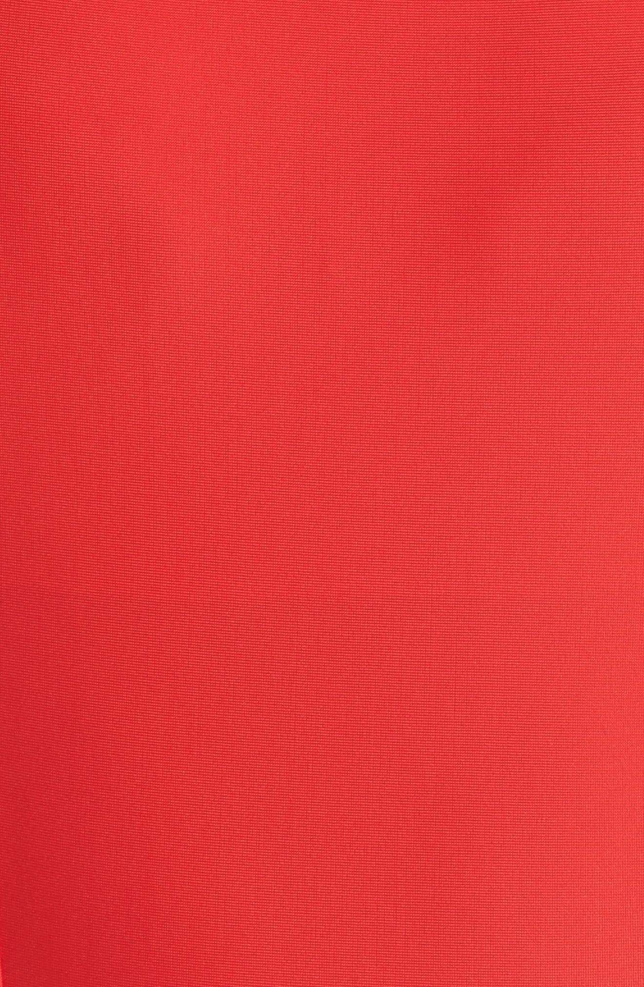 Saldana One-Piece Cutout Swimsuit,                             Alternate thumbnail 5, color,                             Red