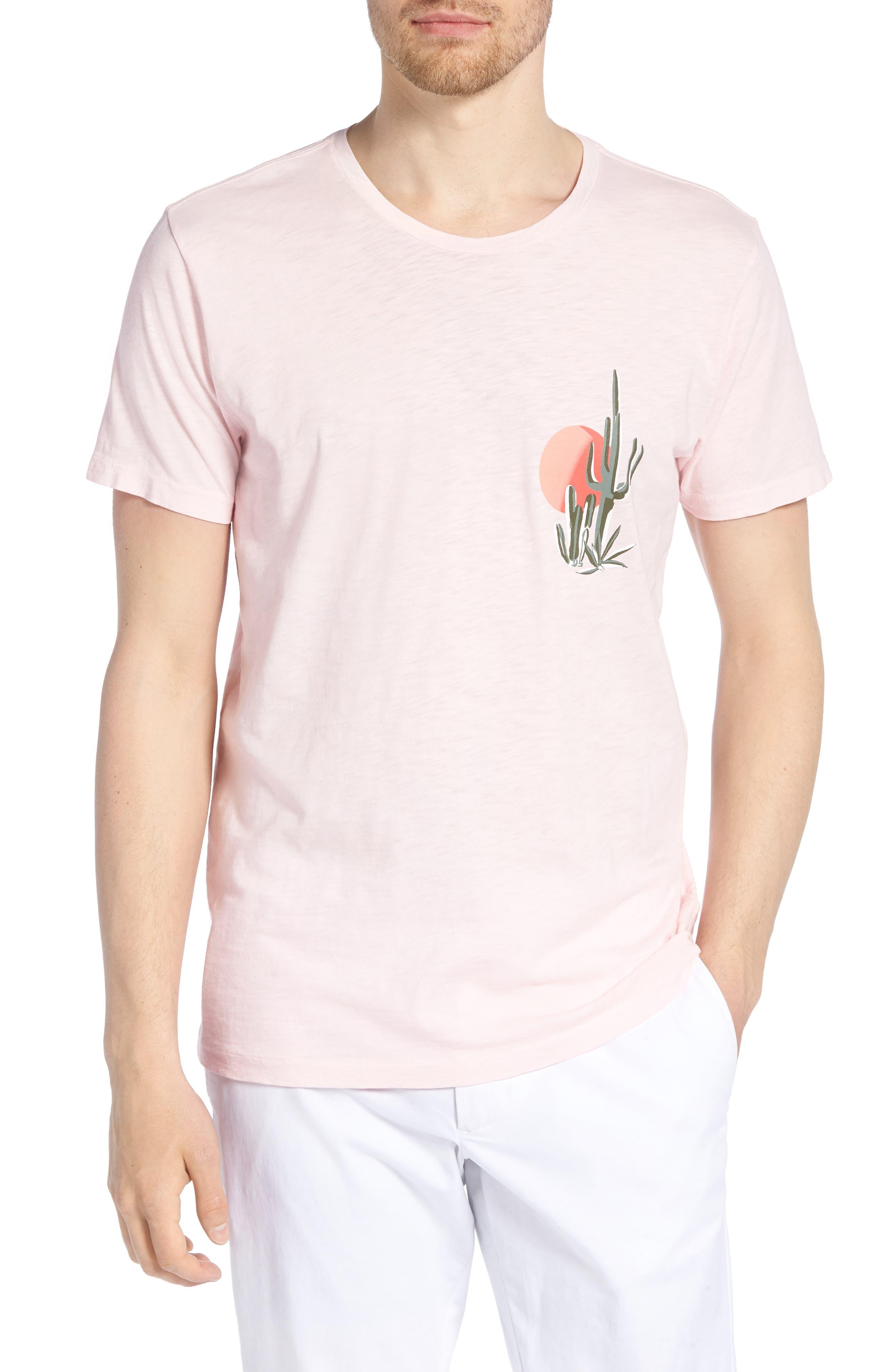 Cactus Sunset Slim Fit T-Shirt,                             Main thumbnail 1, color,                             Skivvy Pink
