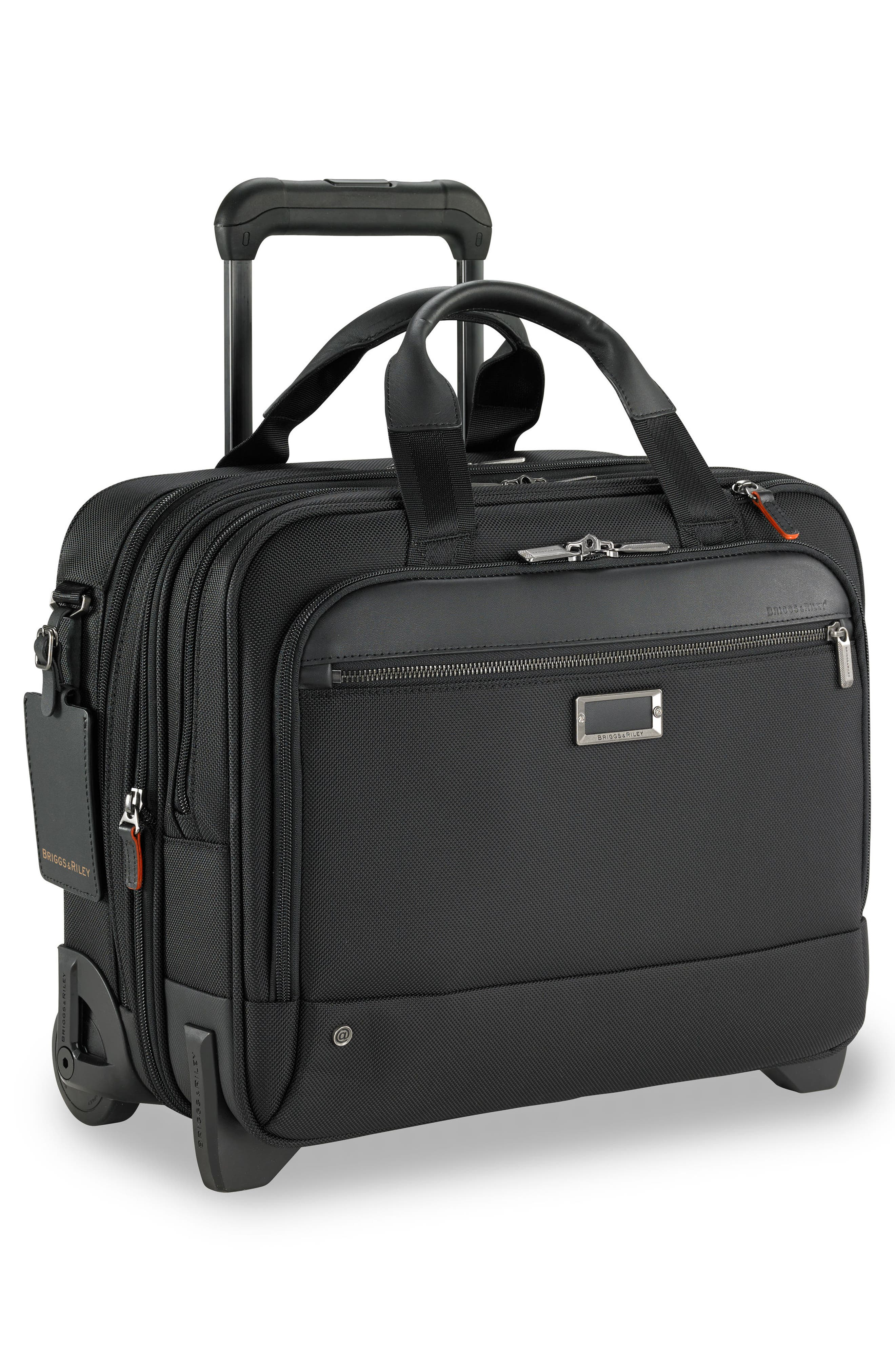 @work 2-Wheel Briefcase,                             Alternate thumbnail 2, color,                             Black