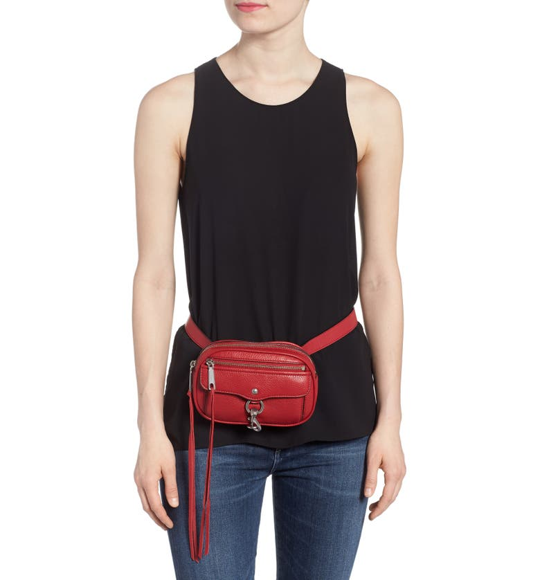 Blythe Leather Belt Bag,                         Alternate,                         color, Scarlet
