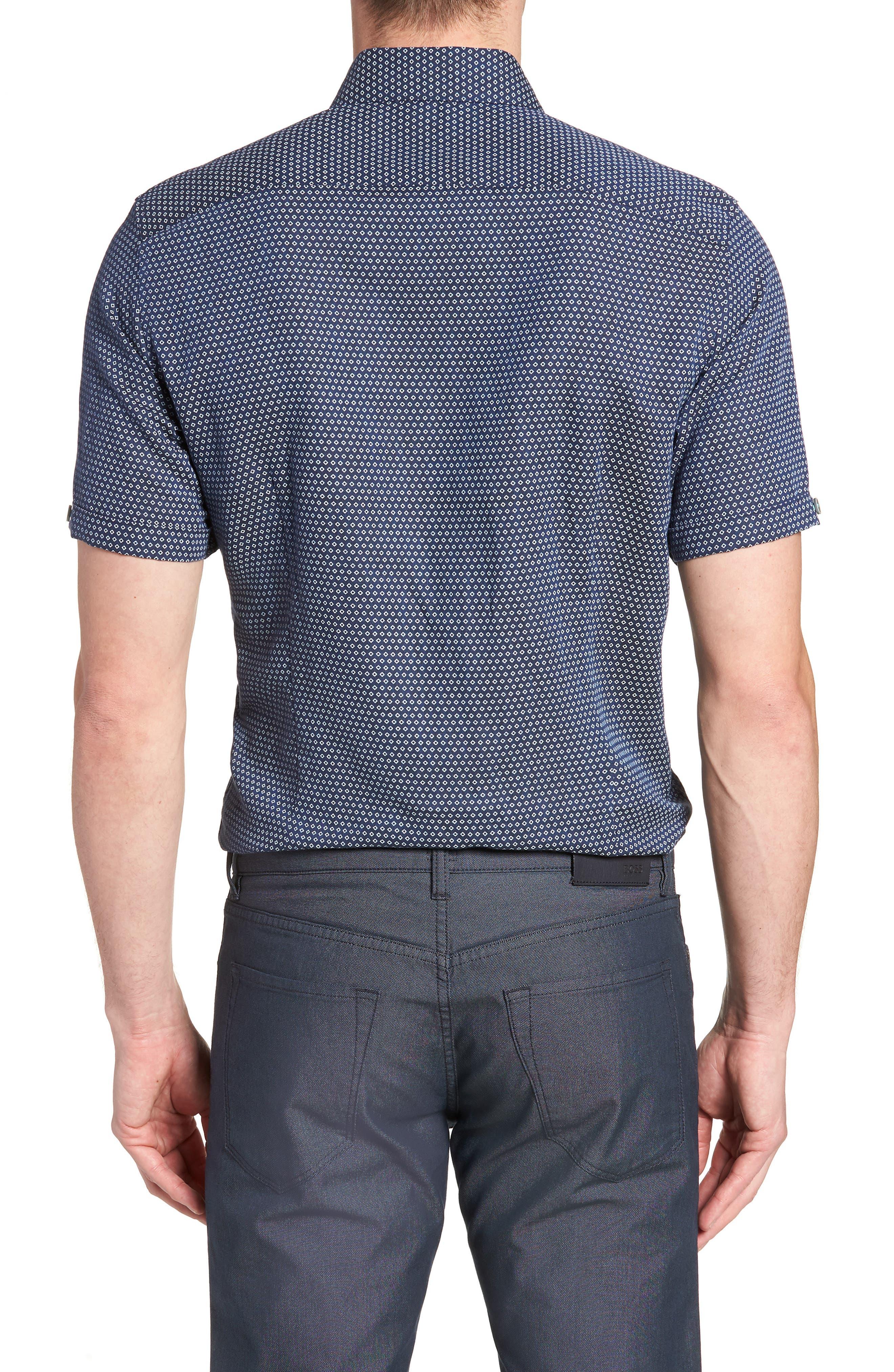 Sirobtt Short Sleeve Sport Shirt,                             Alternate thumbnail 3, color,                             Navy