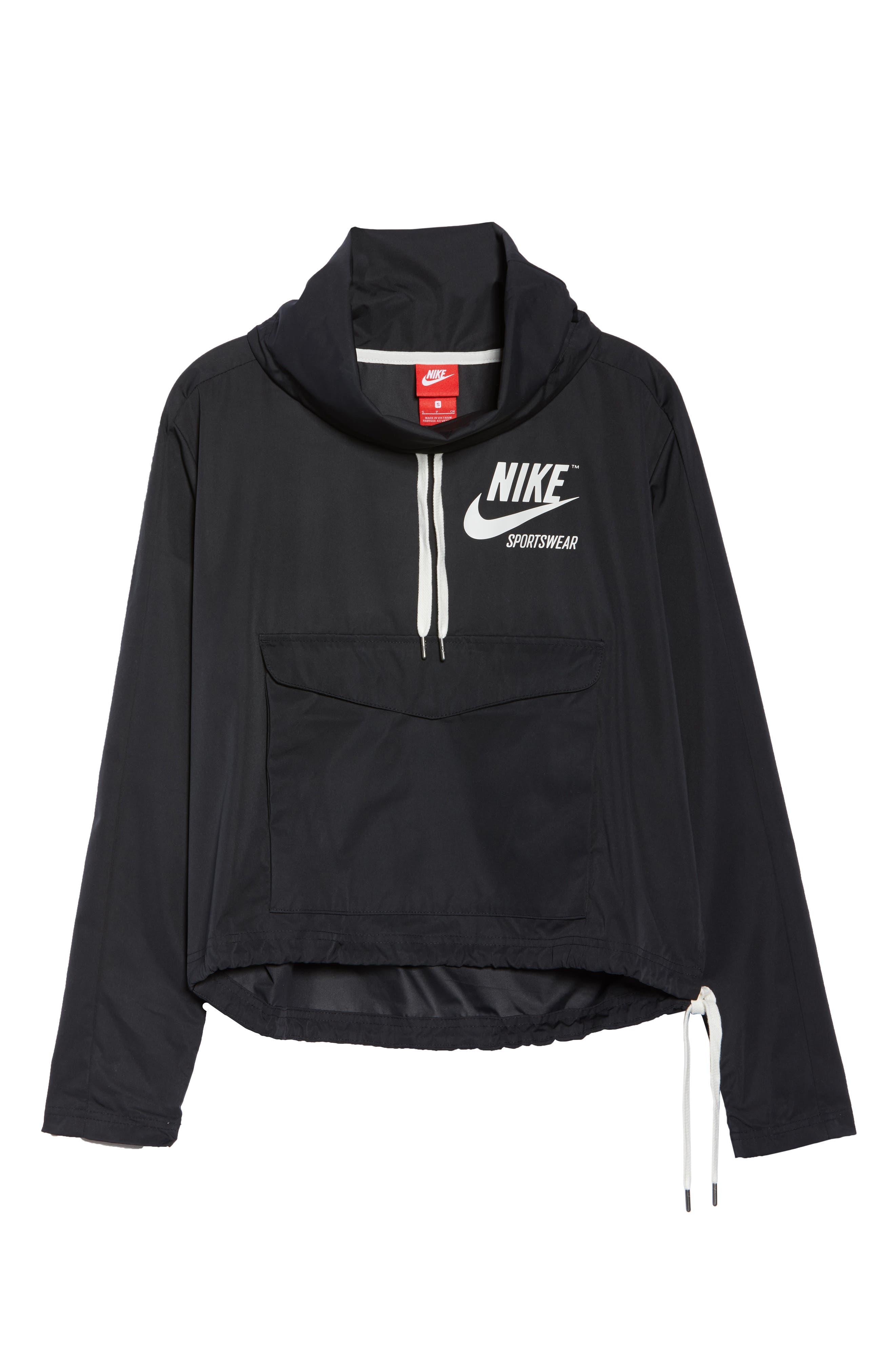 Sportswear Archive Jacket,                             Alternate thumbnail 7, color,                             Black/ Black