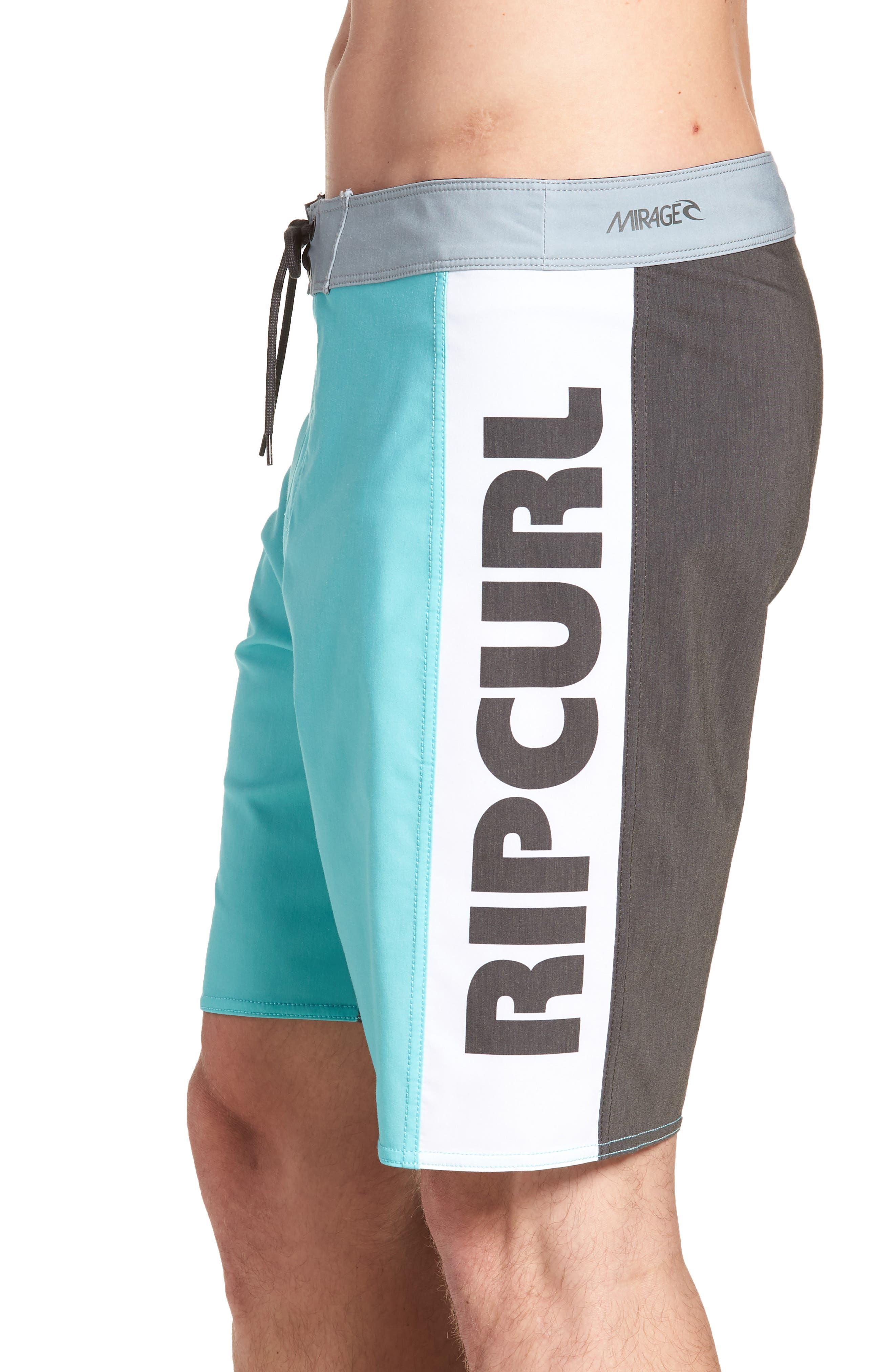 Mirage Owen Stretch Board Shorts,                             Alternate thumbnail 4, color,                             Aqua