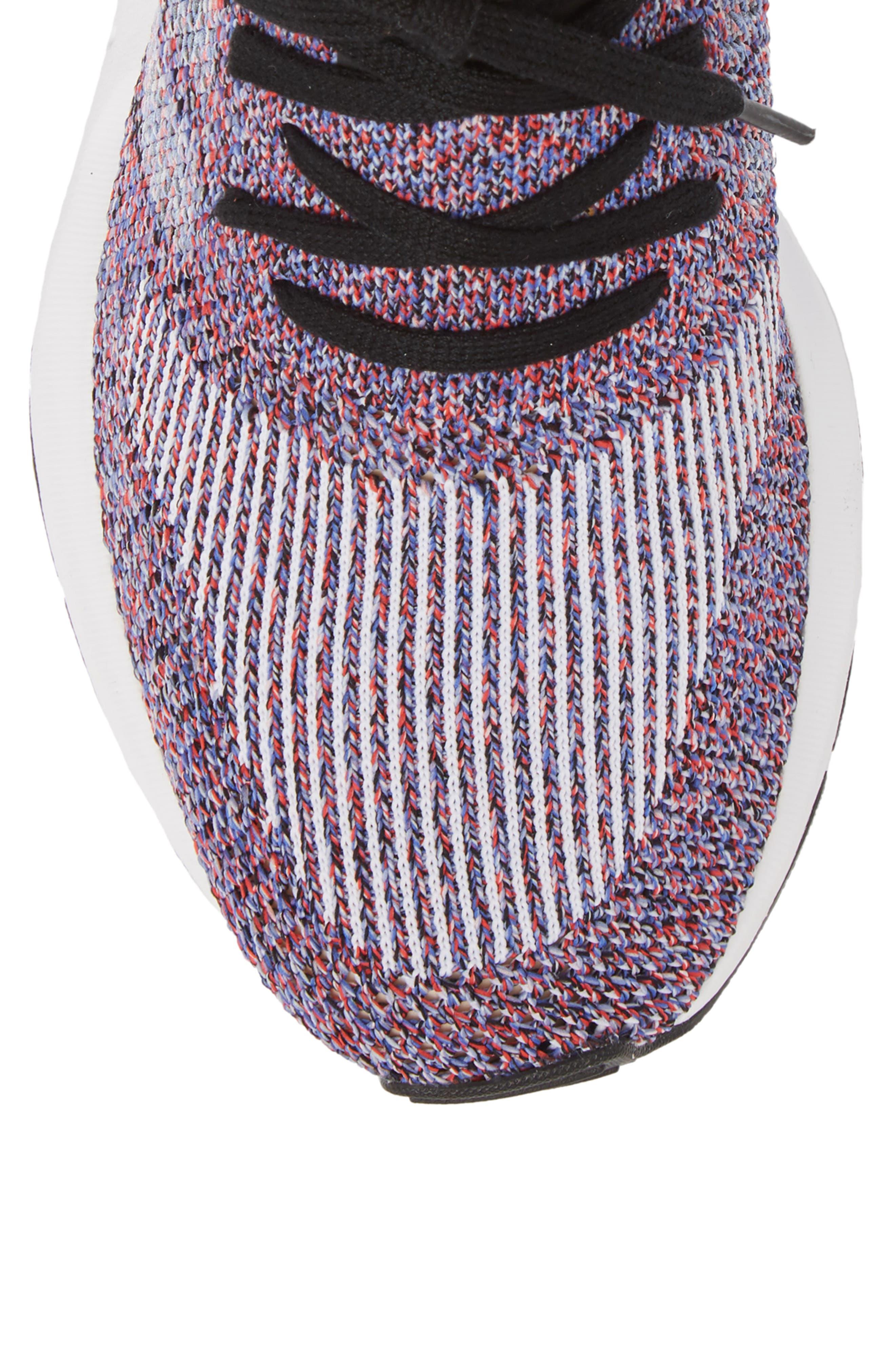 Swift Run Primeknit Sneaker,                             Alternate thumbnail 5, color,                             White/ Purple/ Black