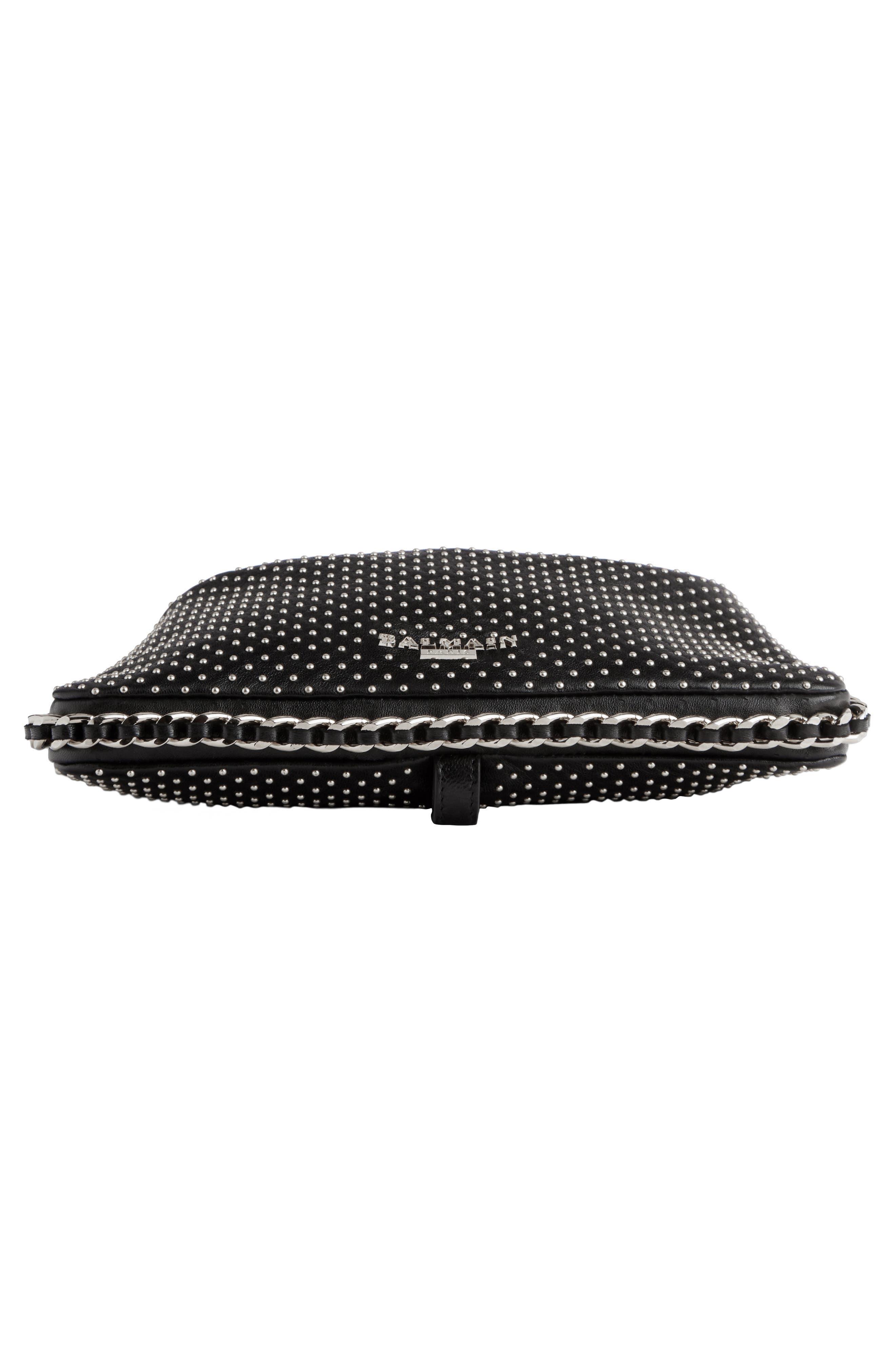 Studded Leather Bracelet Backpack,                             Alternate thumbnail 5, color,                             Noir