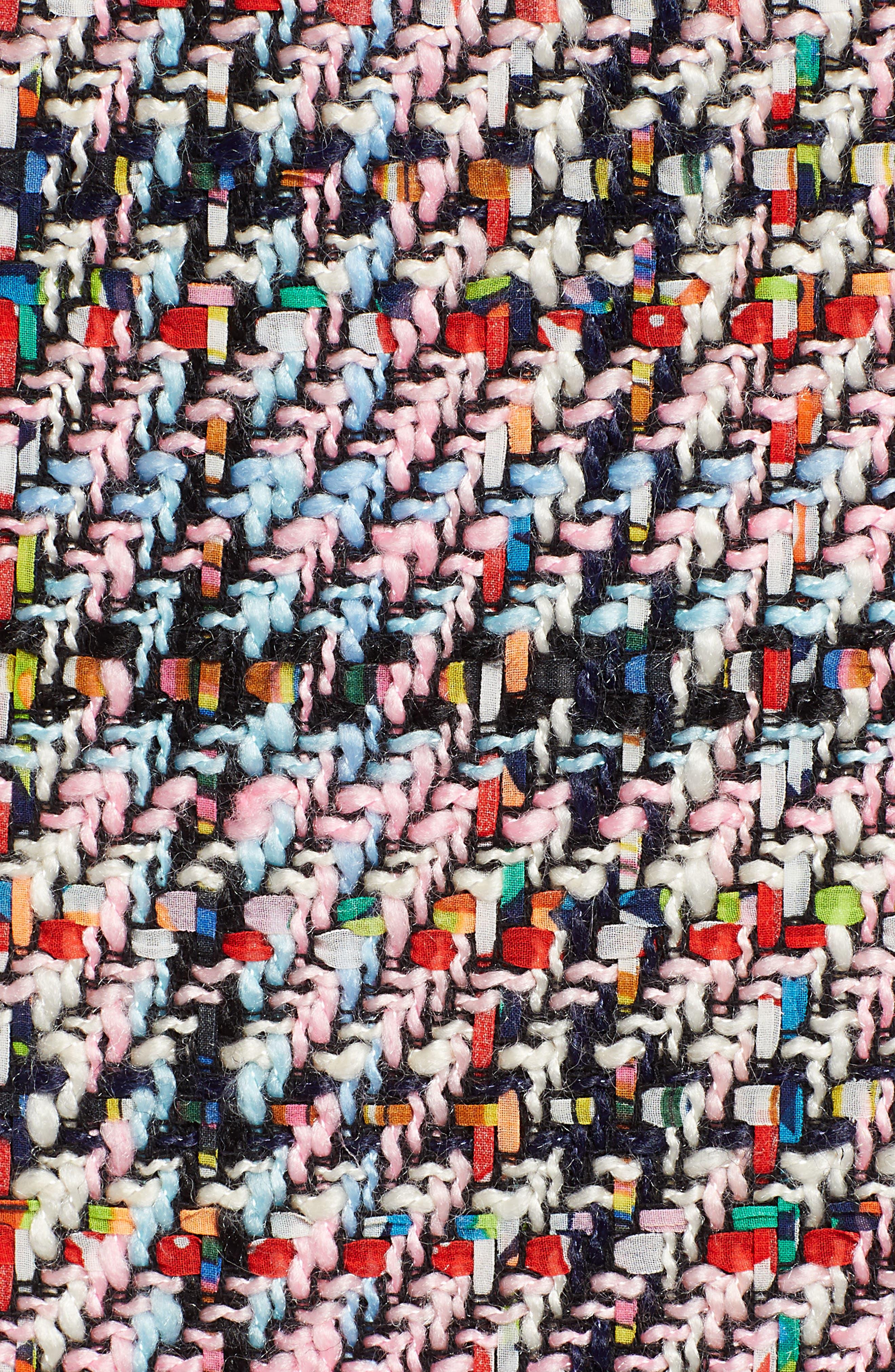 Tweed Midi Skirt,                             Alternate thumbnail 5, color,                             Pink Multi Tweed