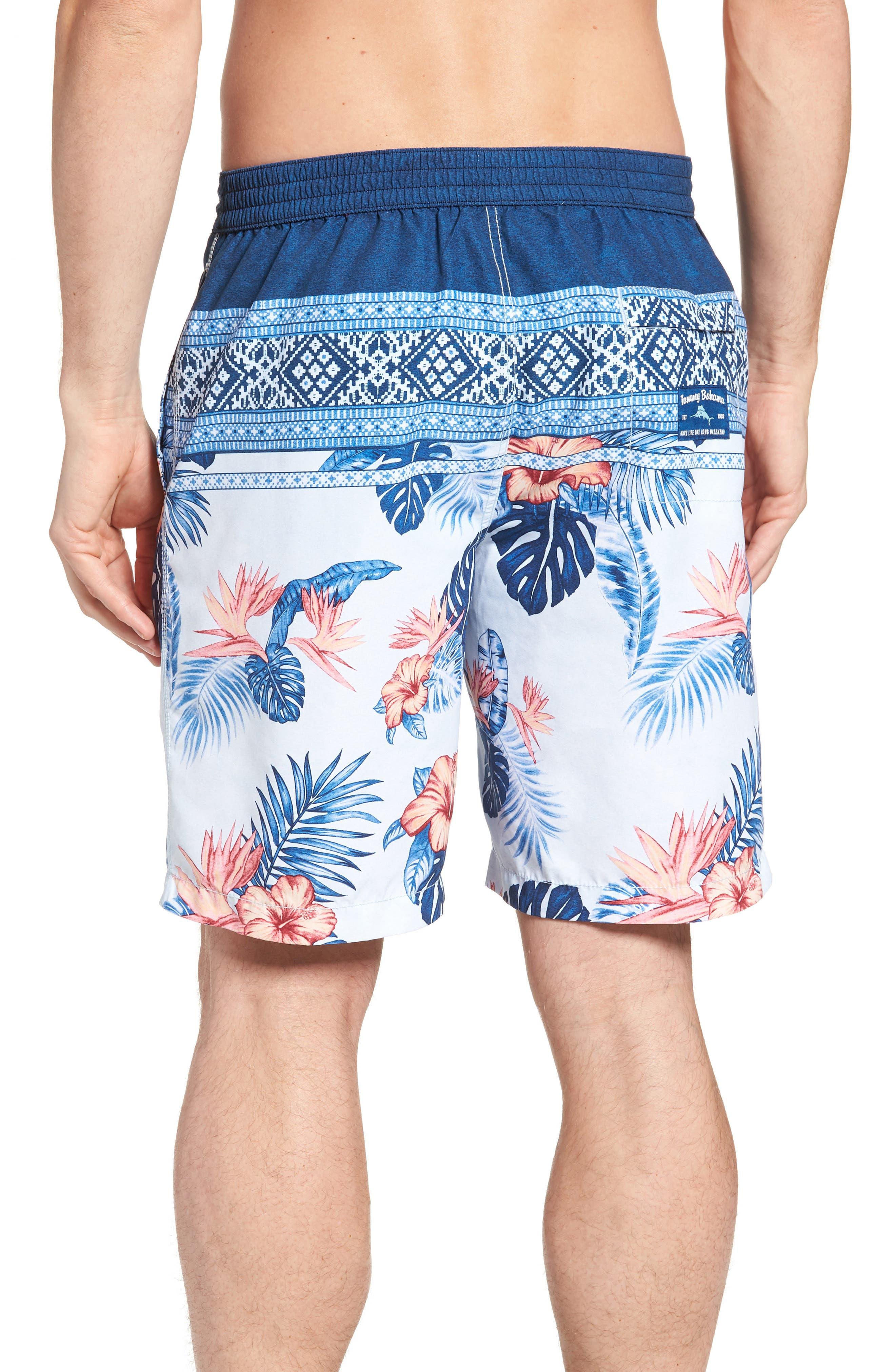 Baja Casa Rosa Board Shorts,                             Alternate thumbnail 2, color,                             Mountain Bluebell