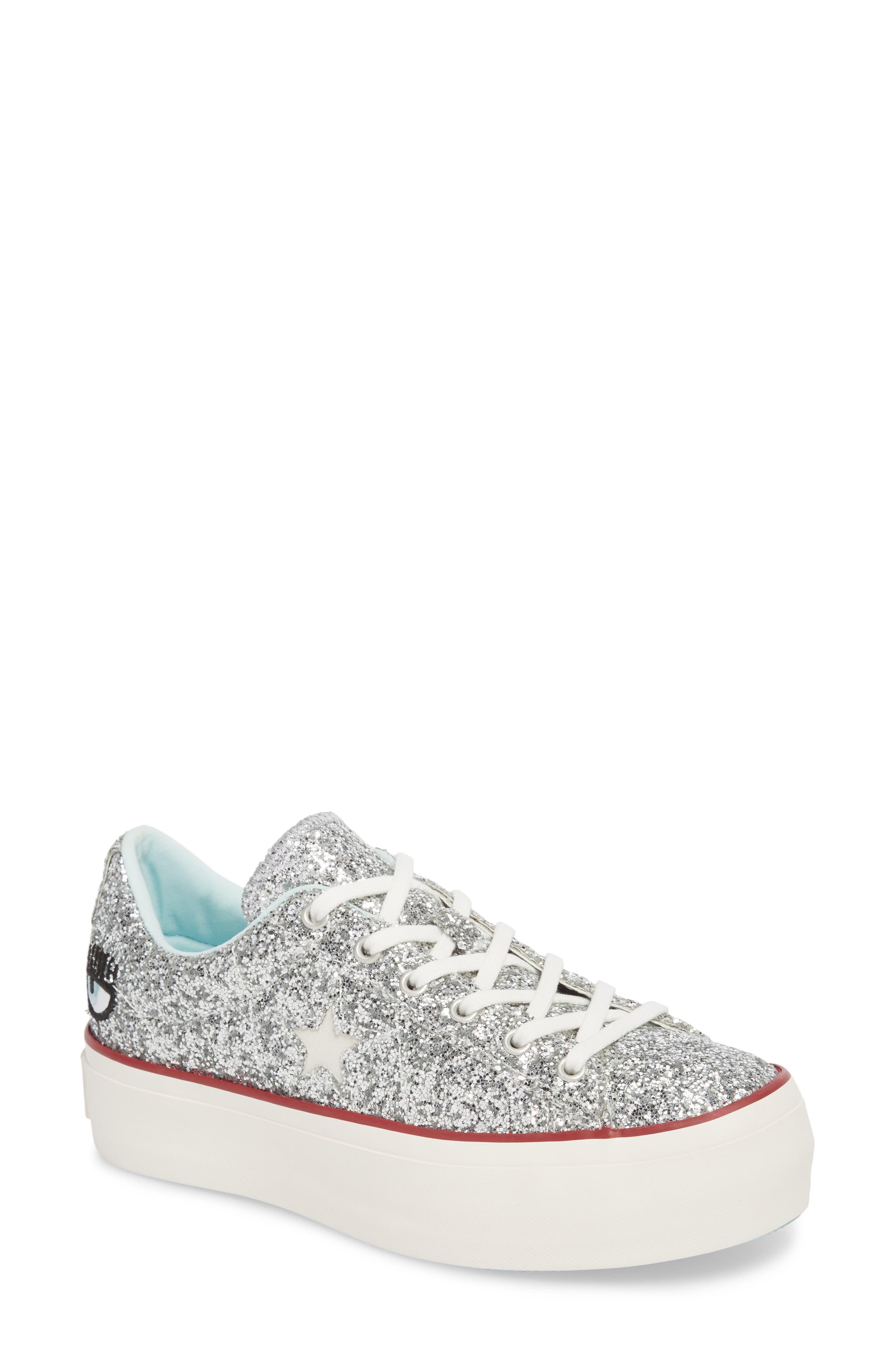 Converse x Chiara Ferragni One Star Glitter Platform Sneaker (Women)