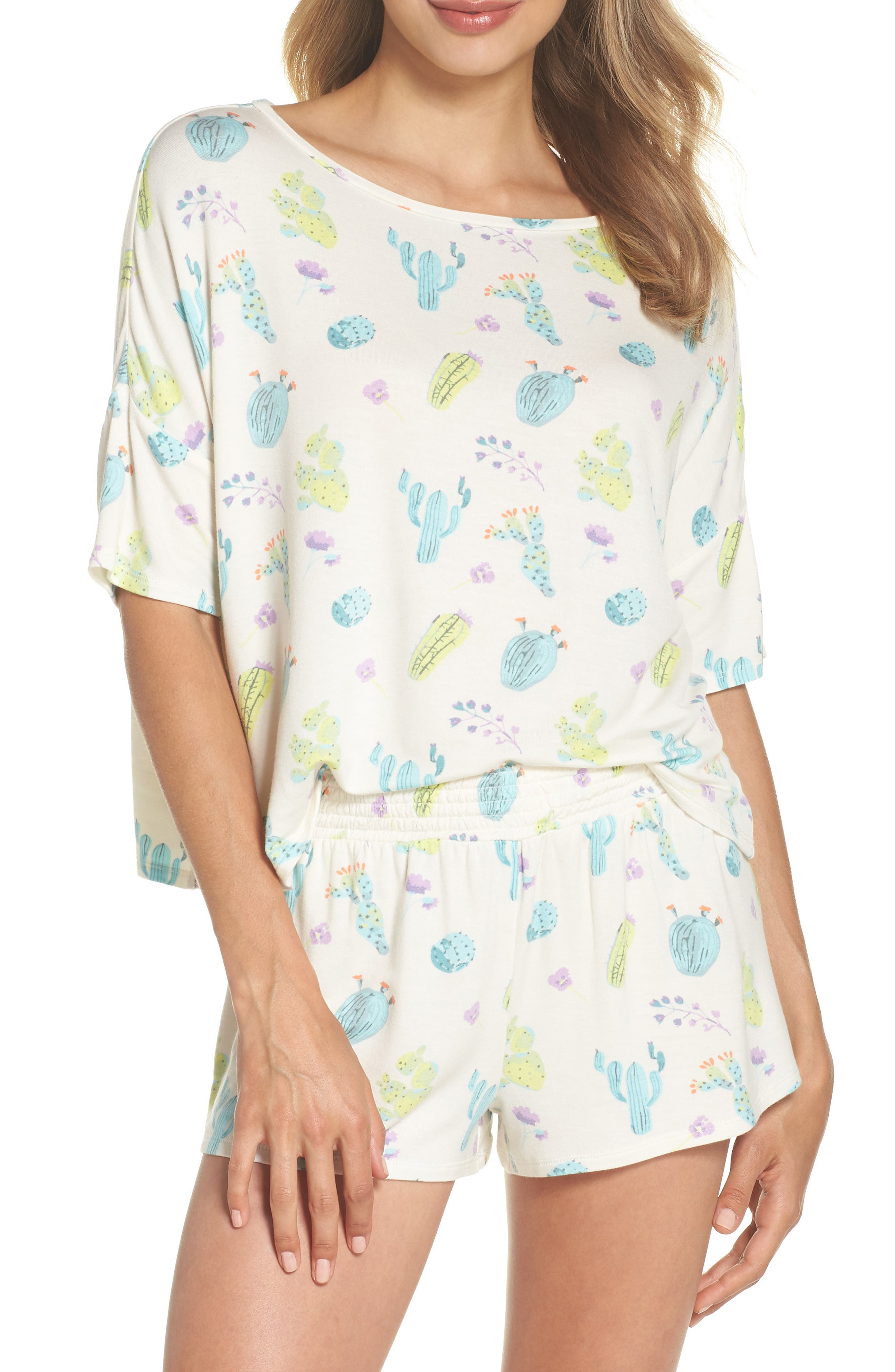 Short Pajamas,                         Main,                         color, Macrame Cacti