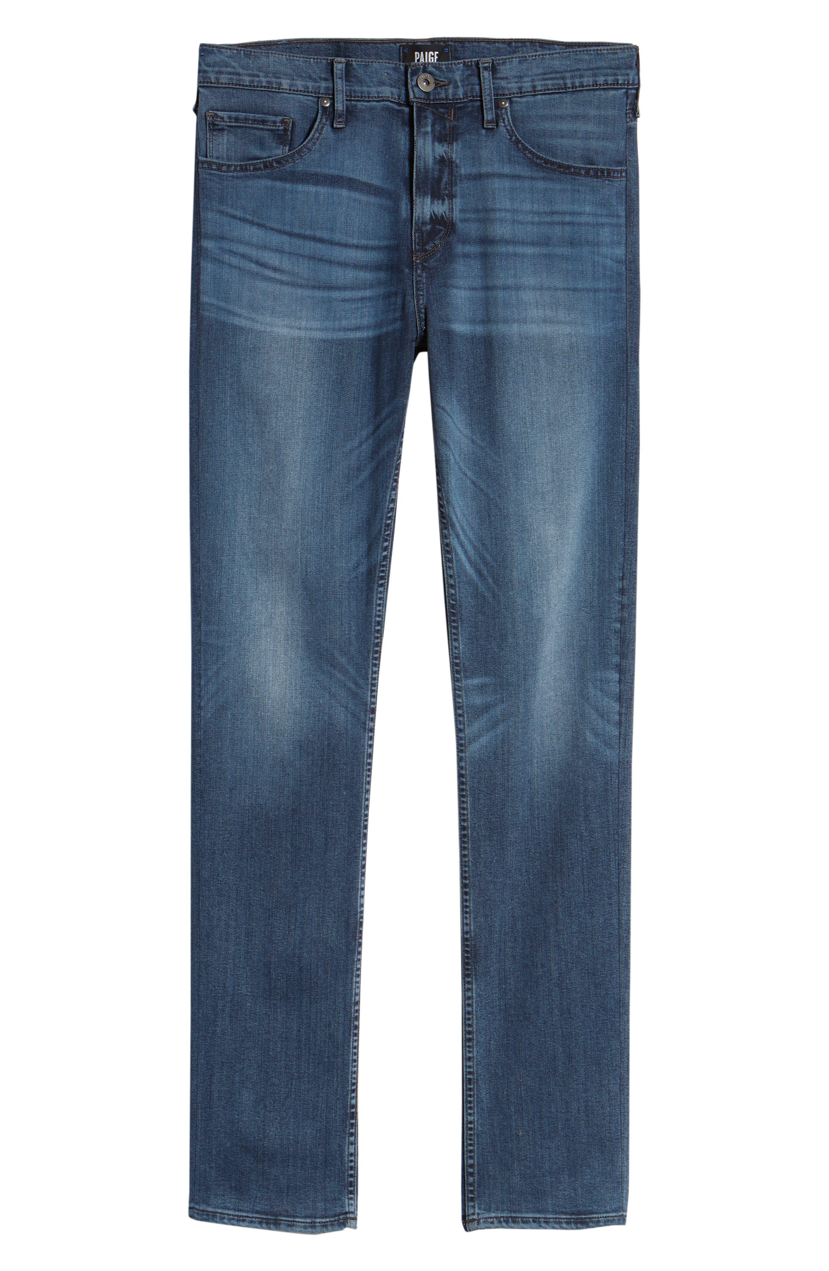 Transcend - Lennox Slim Fit Jeans,                             Alternate thumbnail 6, color,                             Grammercy
