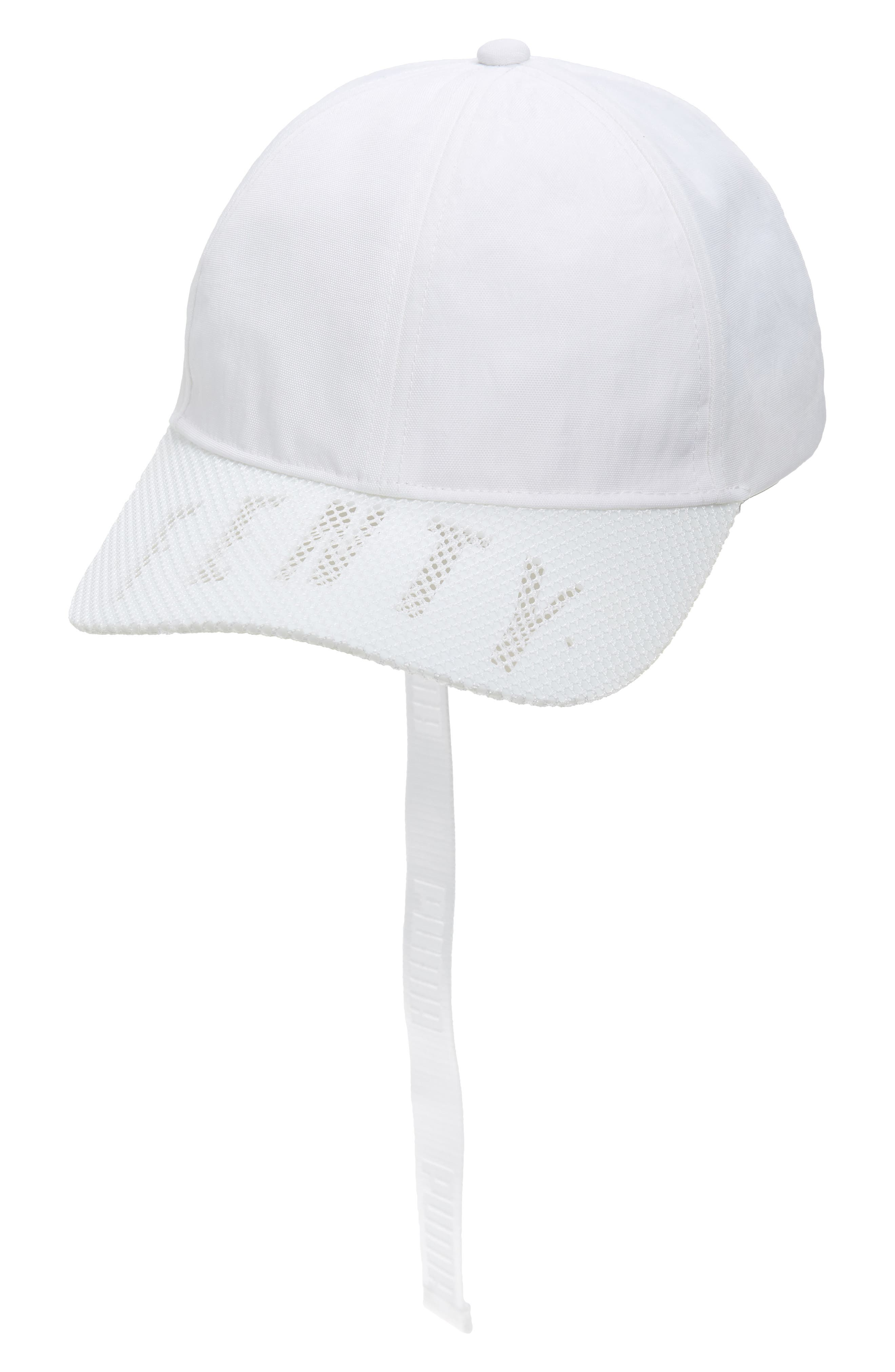 PUMA by Rihanna Perforated Baseball Cap,                             Main thumbnail 1, color,                             Bright White