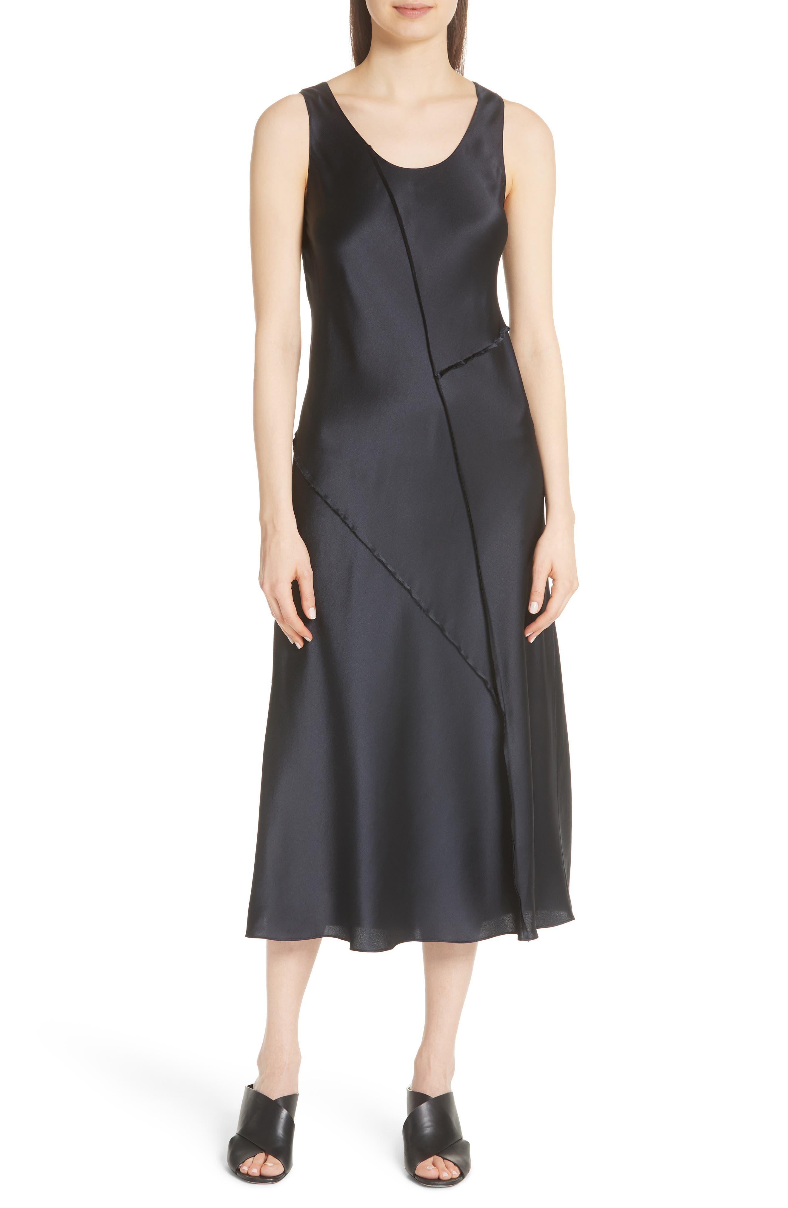 Silk Tank Dress,                             Main thumbnail 1, color,                             Iron