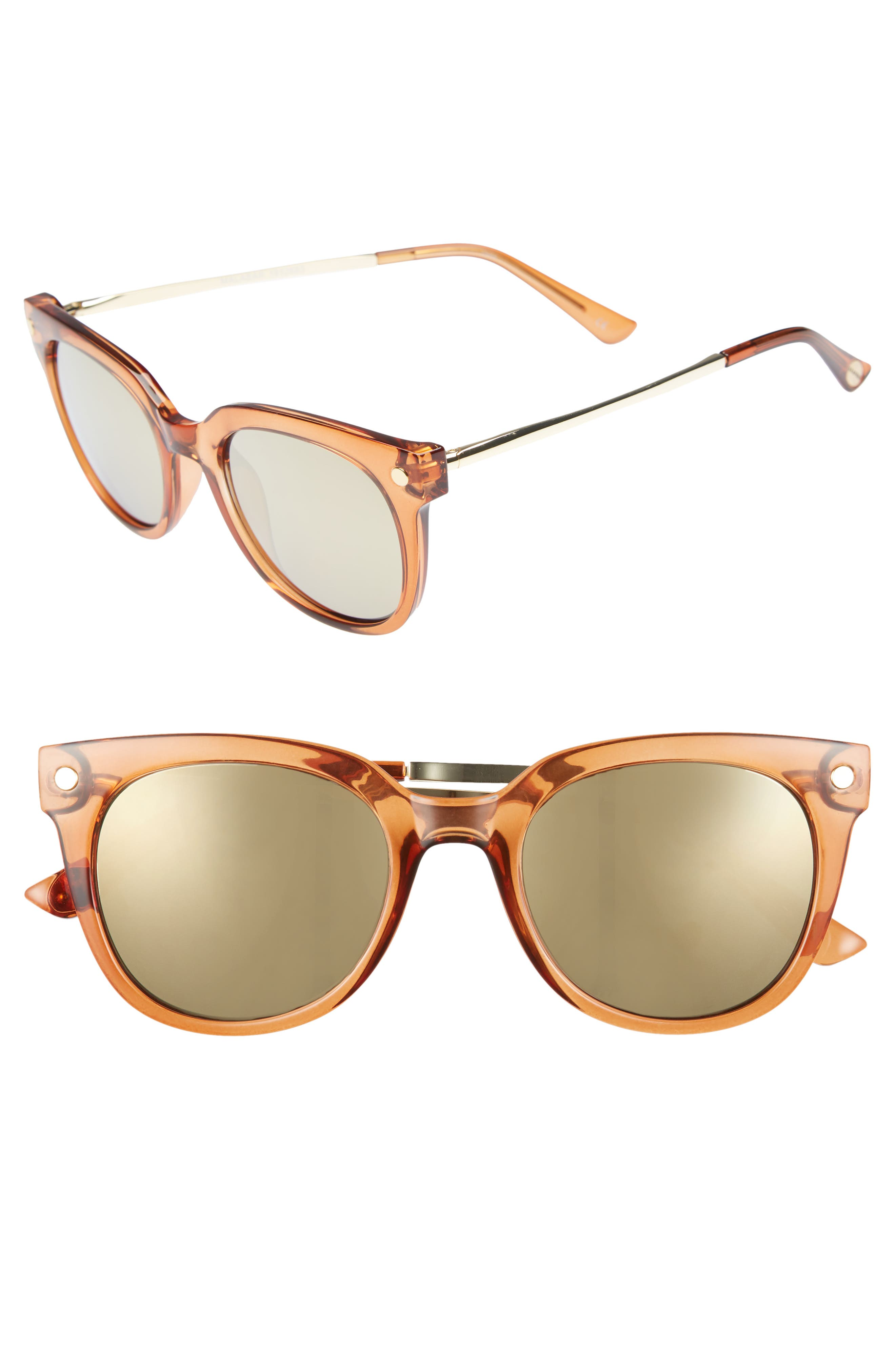 Malabar 52mm Sunglasses,                             Main thumbnail 1, color,                             Maple