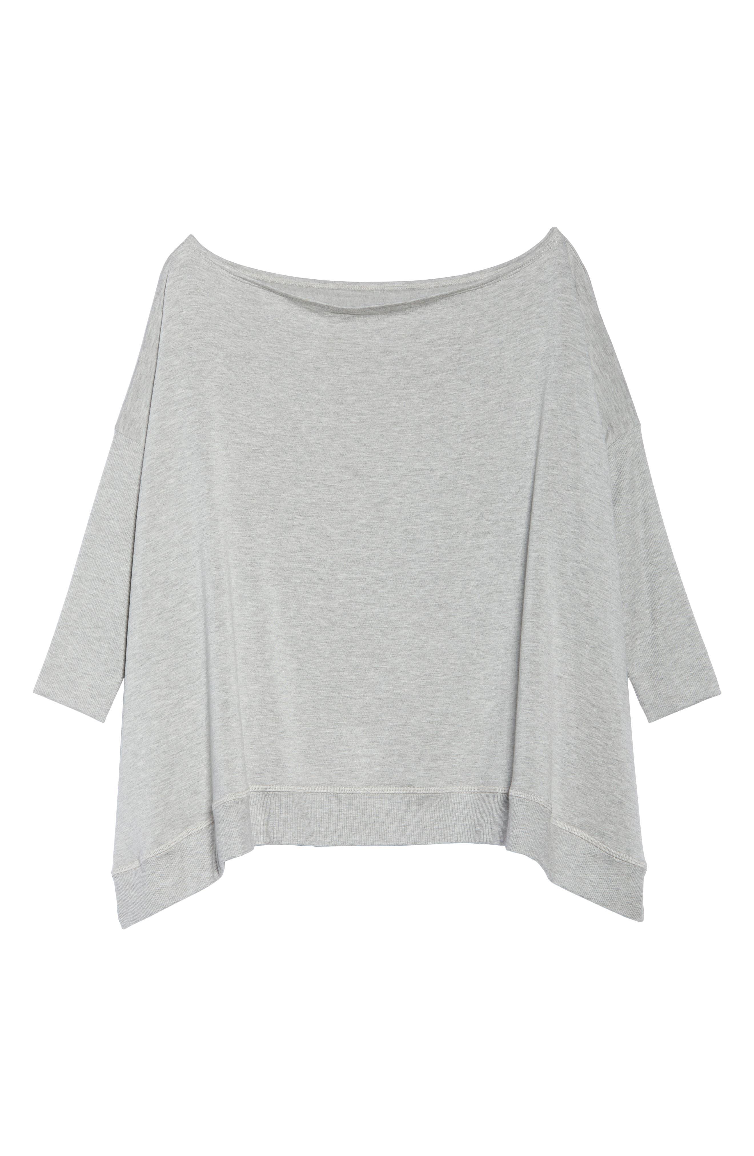 'Cozy' Convertible Fleece Pullover,                             Alternate thumbnail 8, color,                             Light Heather Gray