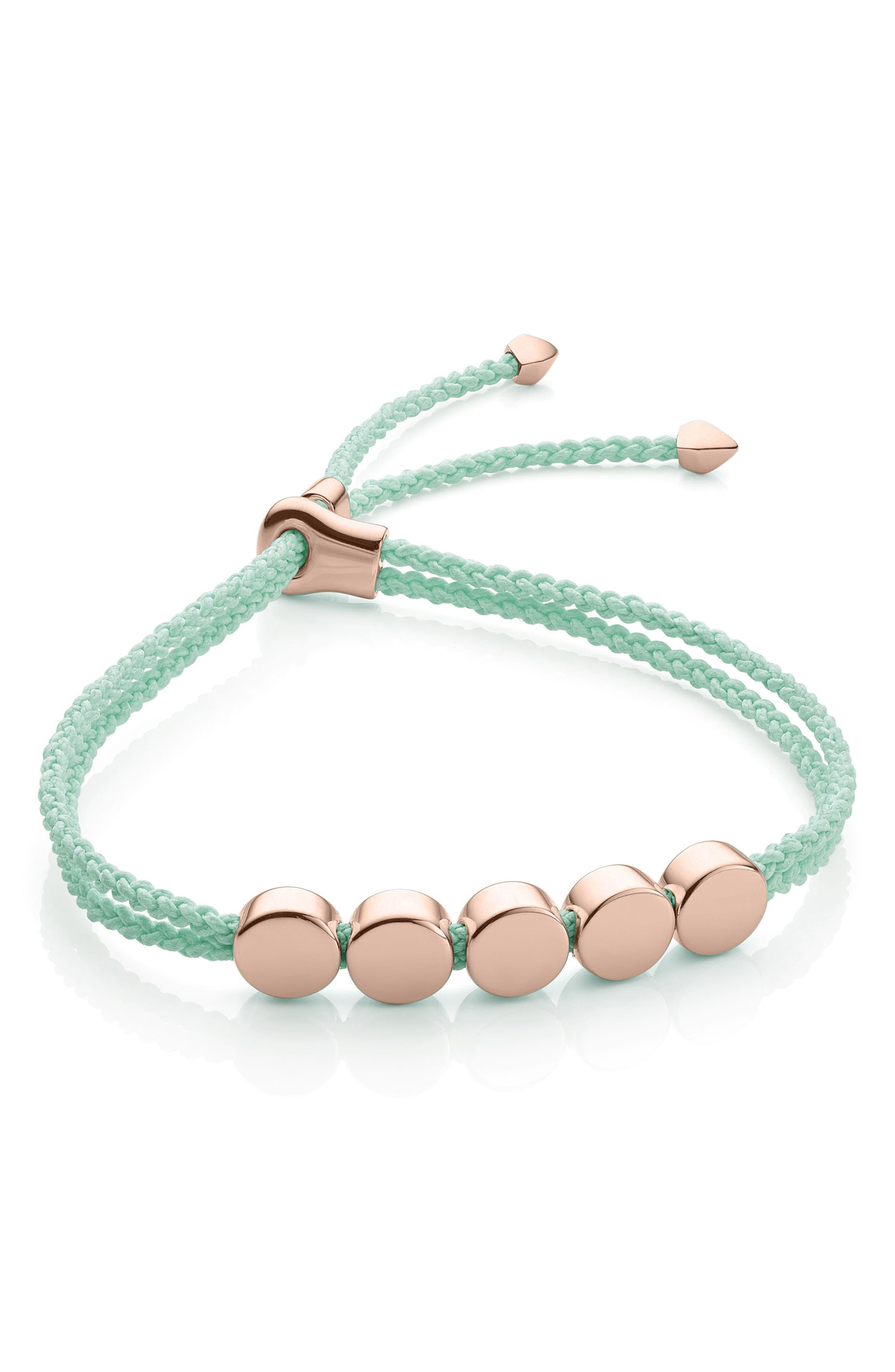 Monica Vinader Linear Bead Friendship Bracelet