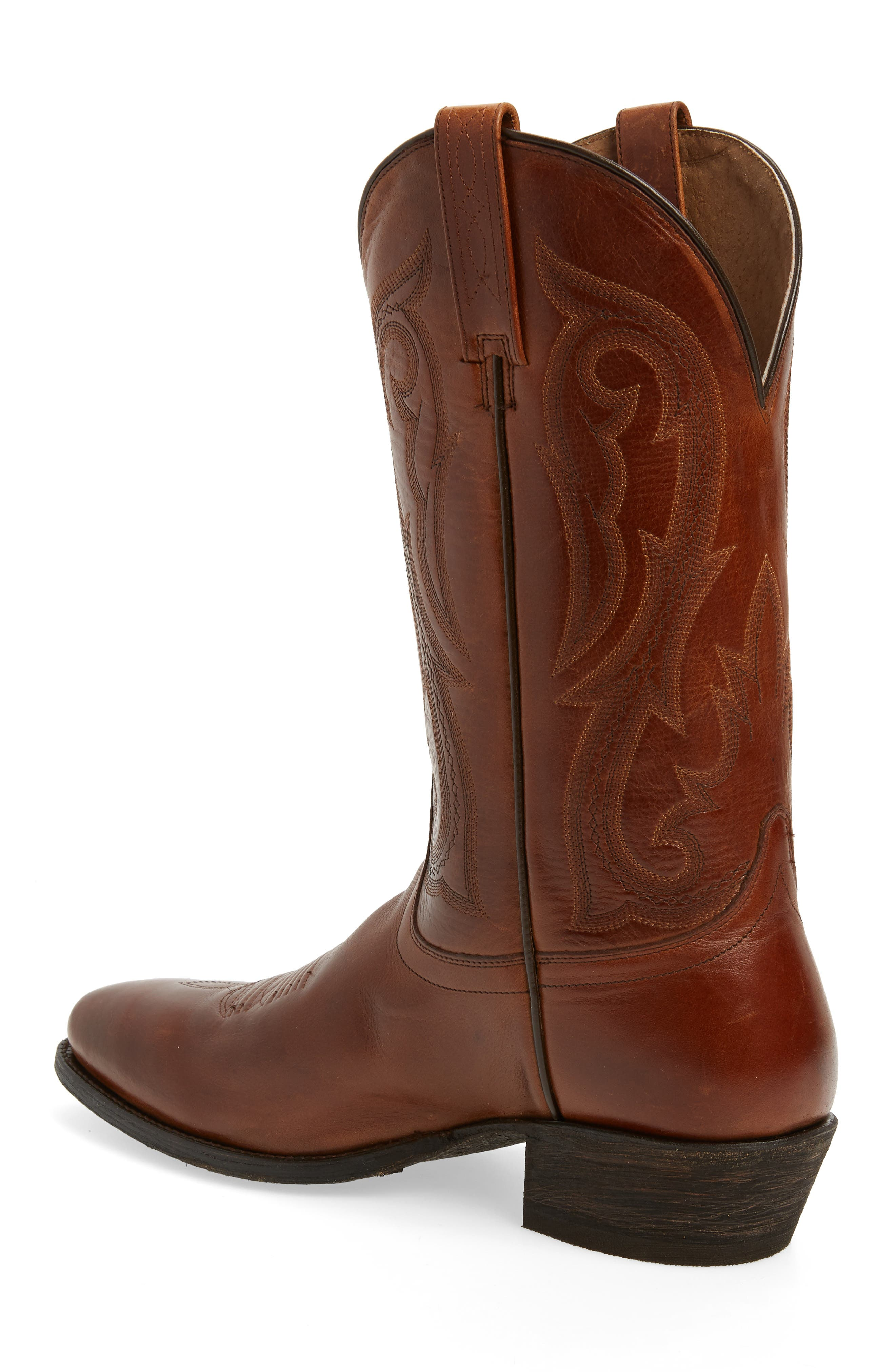 Circuit Tall Cowboy Boot,                             Alternate thumbnail 2, color,                             Spruced Cognac Leather