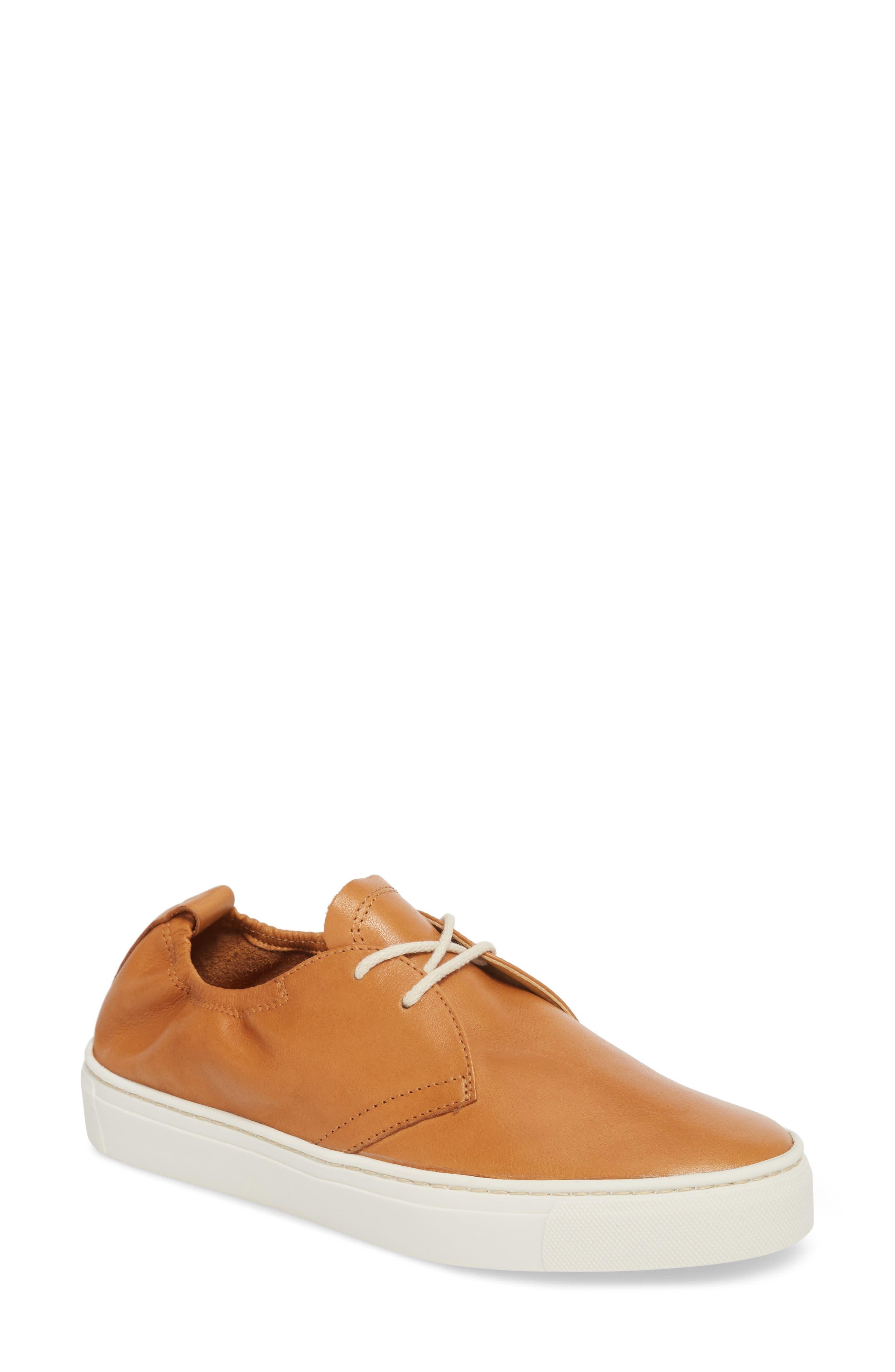 Sneak Up Sneaker,                         Main,                         color, Cognac Leather