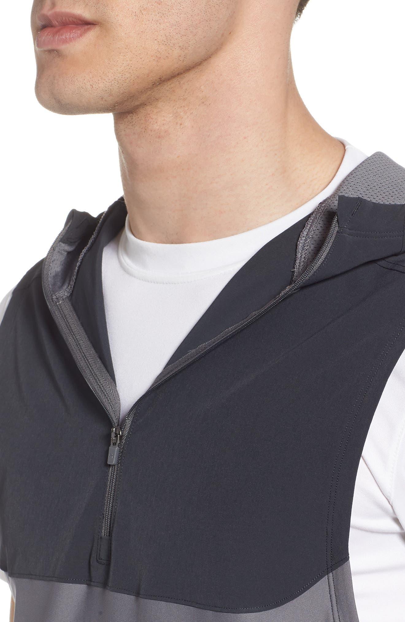 Threadborne Vanish Vest,                             Alternate thumbnail 4, color,                             Anthracite / Graphite/ Iron