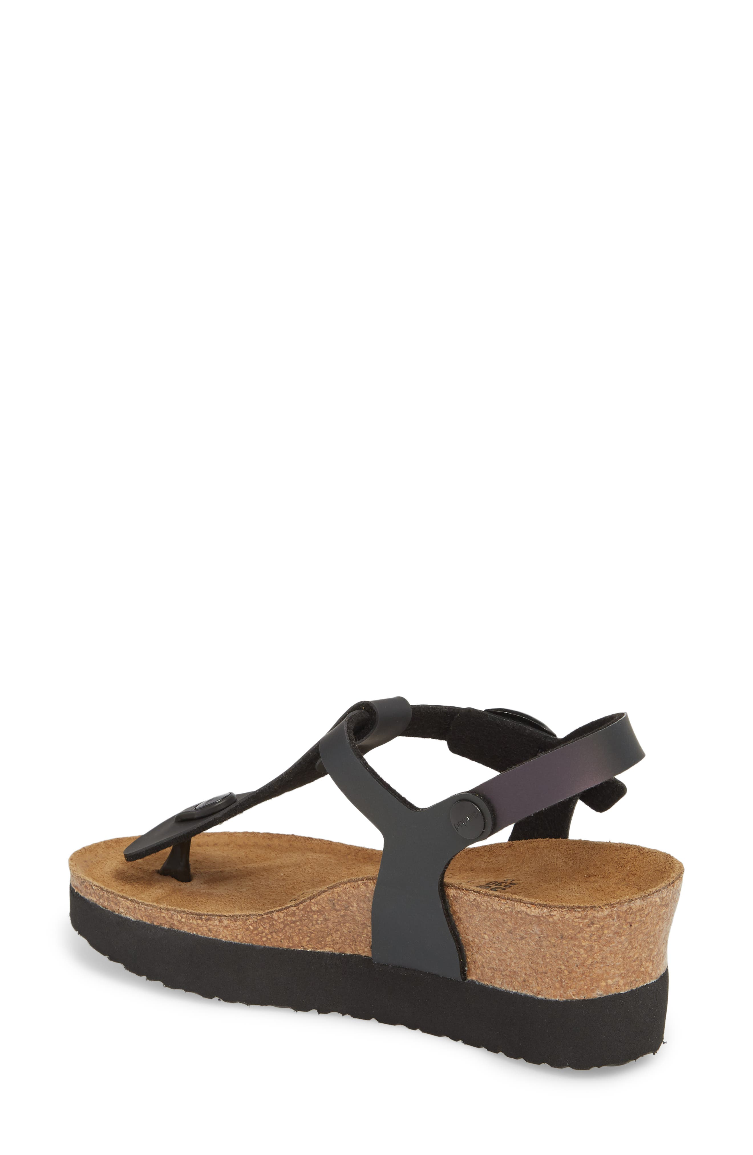 Ashley Sandal,                             Alternate thumbnail 2, color,                             Iridescent Black Leather