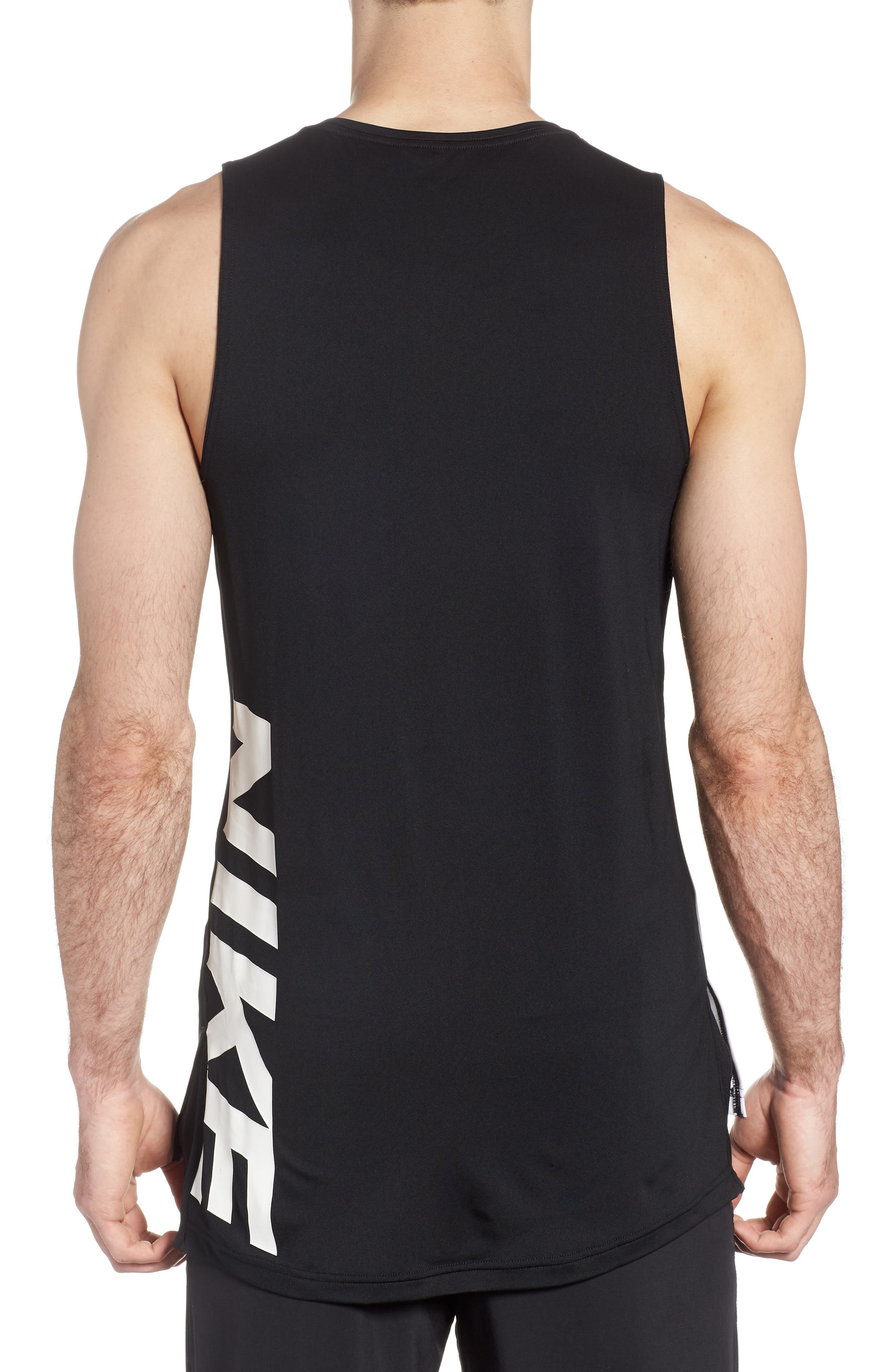 Fitted Tank,                             Alternate thumbnail 2, color,                             White