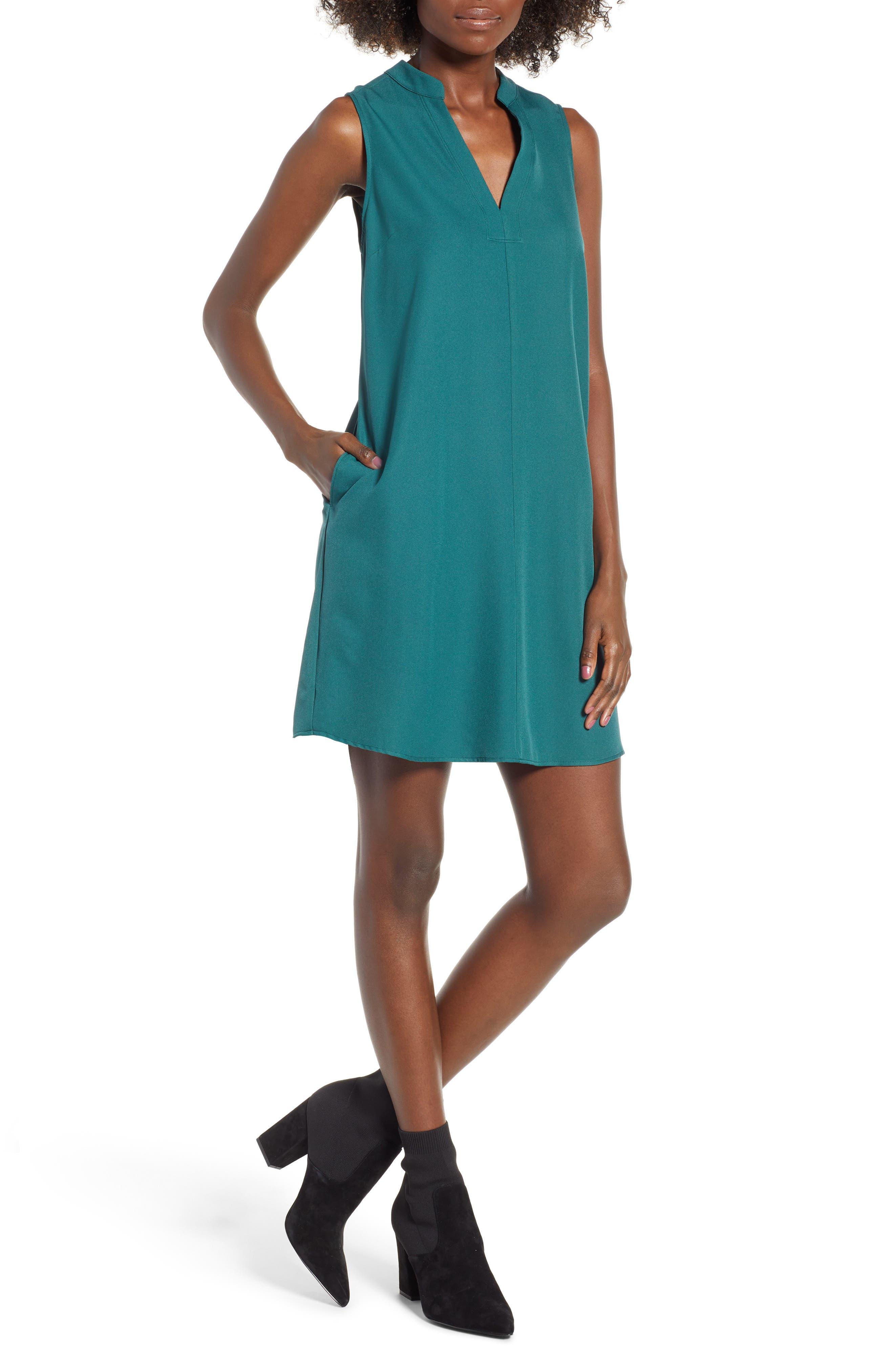 Taylor Shift Dress,                             Main thumbnail 1, color,                             Green Bug