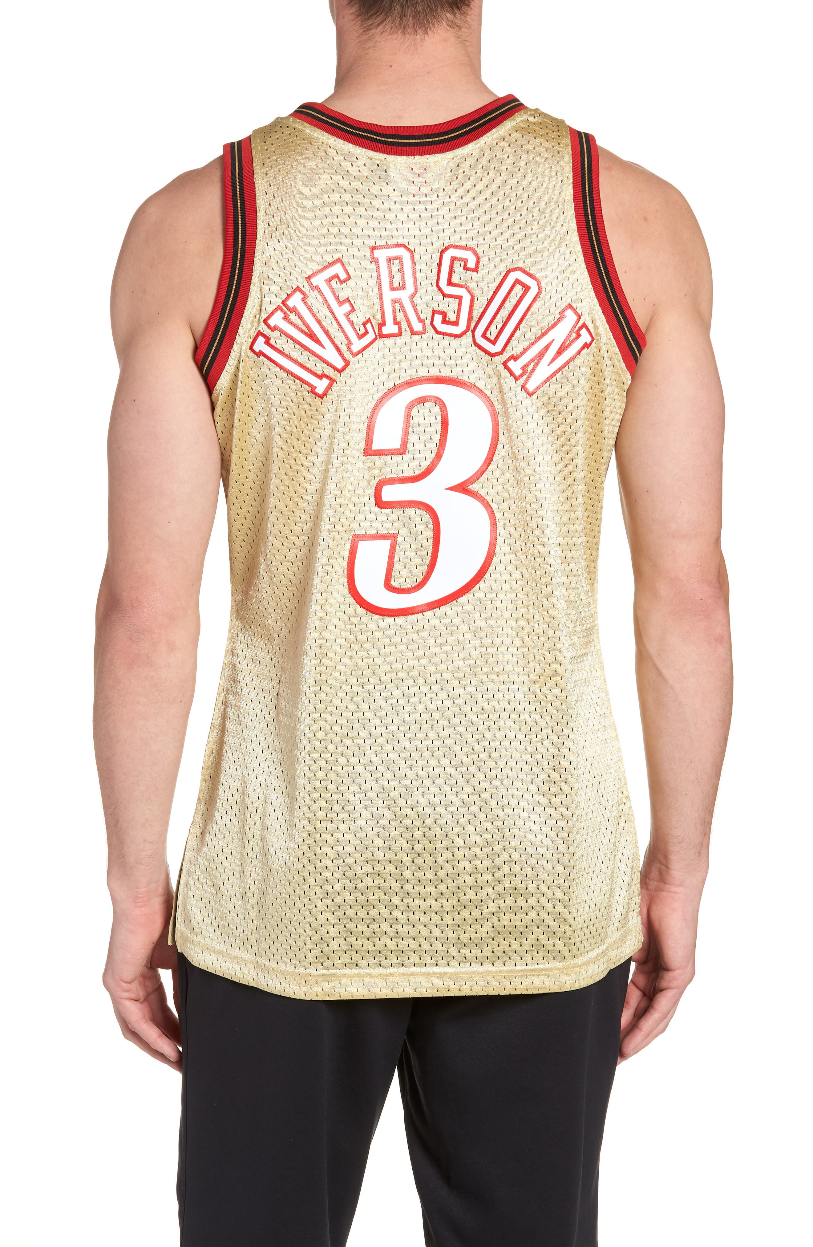 NBA Gold Iverson Jersey,                             Alternate thumbnail 2, color,                             Gold