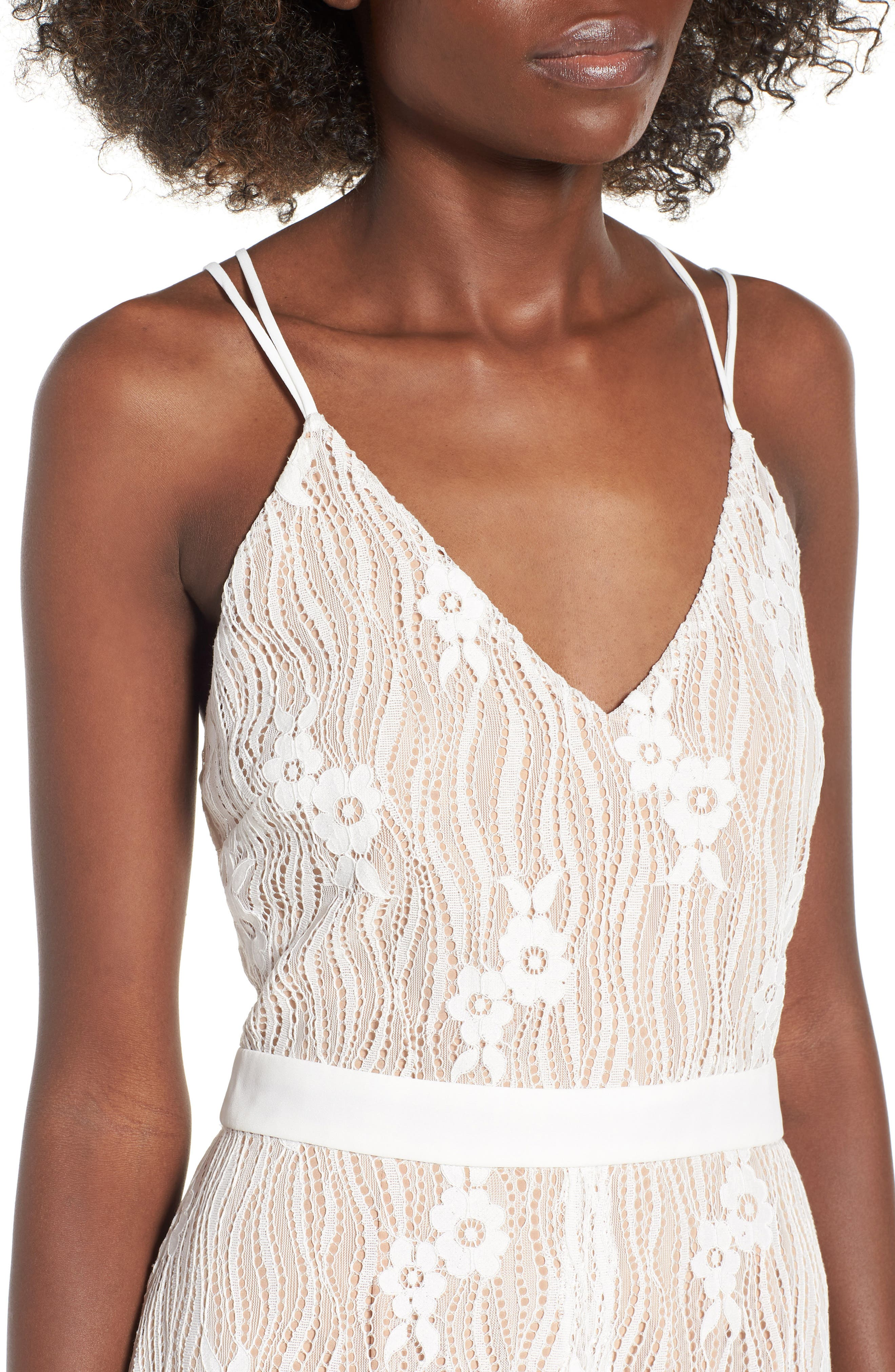 Blake Lace Maxi Dress,                             Alternate thumbnail 4, color,                             Ivory Lace