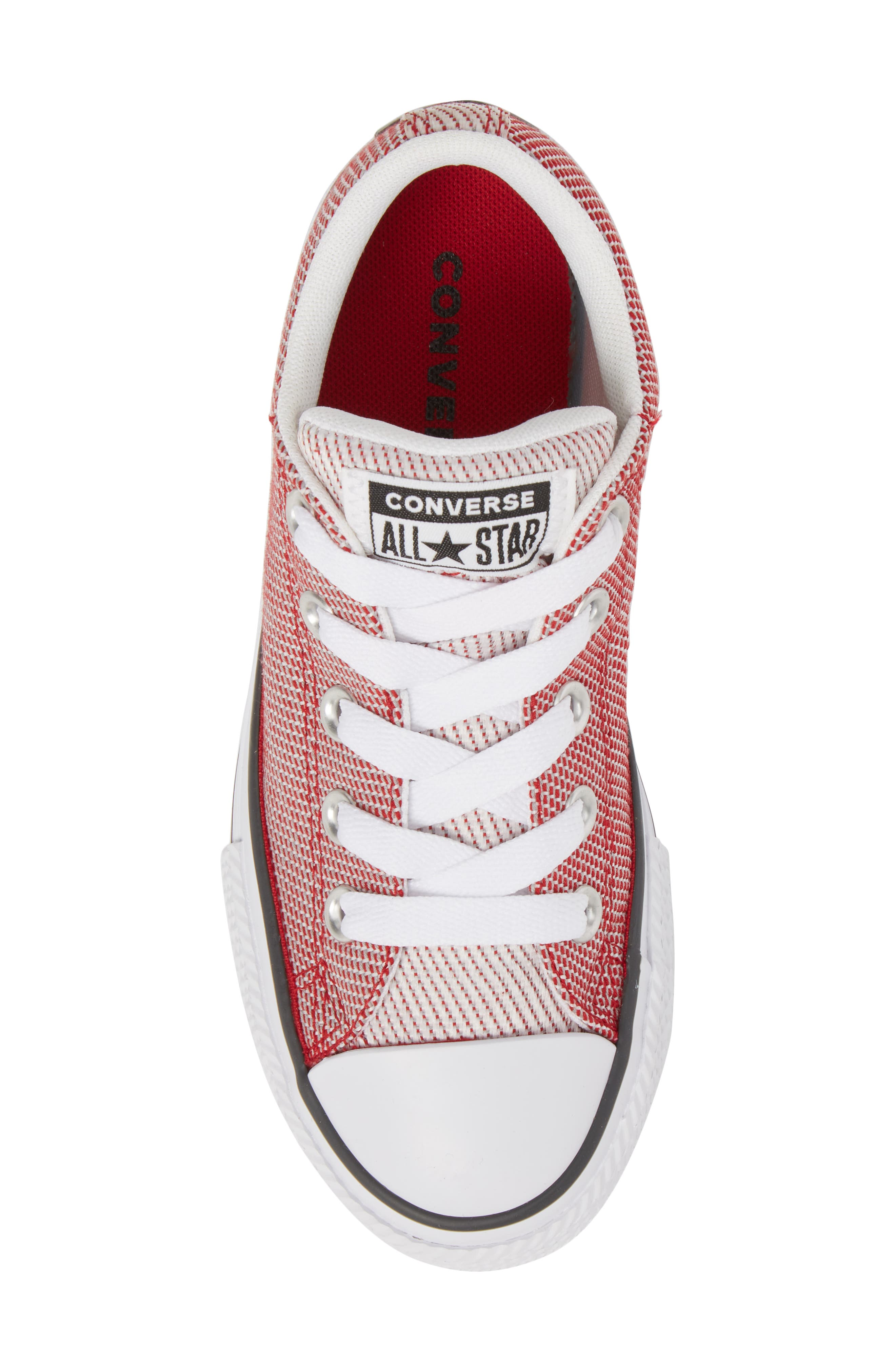 Chuck Taylor<sup>®</sup> All Star<sup>®</sup> Woven Street Sneaker,                             Alternate thumbnail 5, color,                             Gym Red