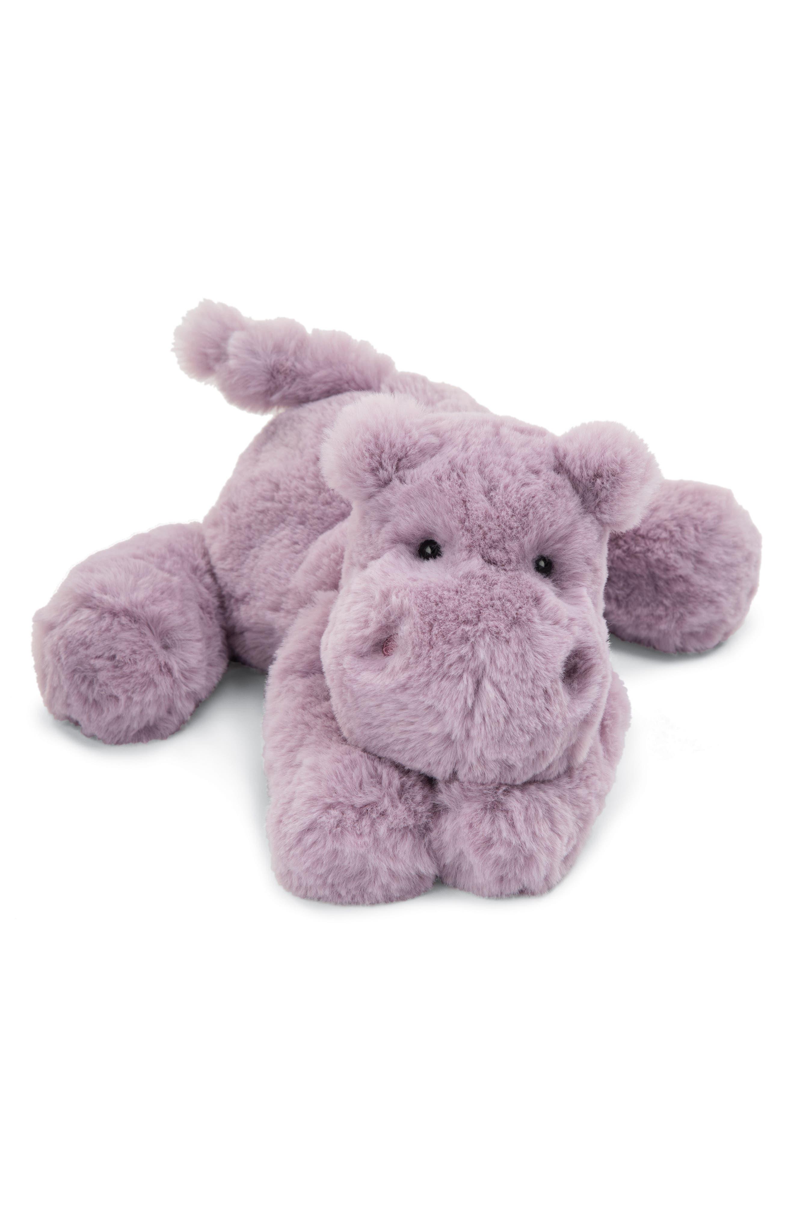 Smudge Hippo Stuffed Animal,                             Main thumbnail 1, color,                             Lilac