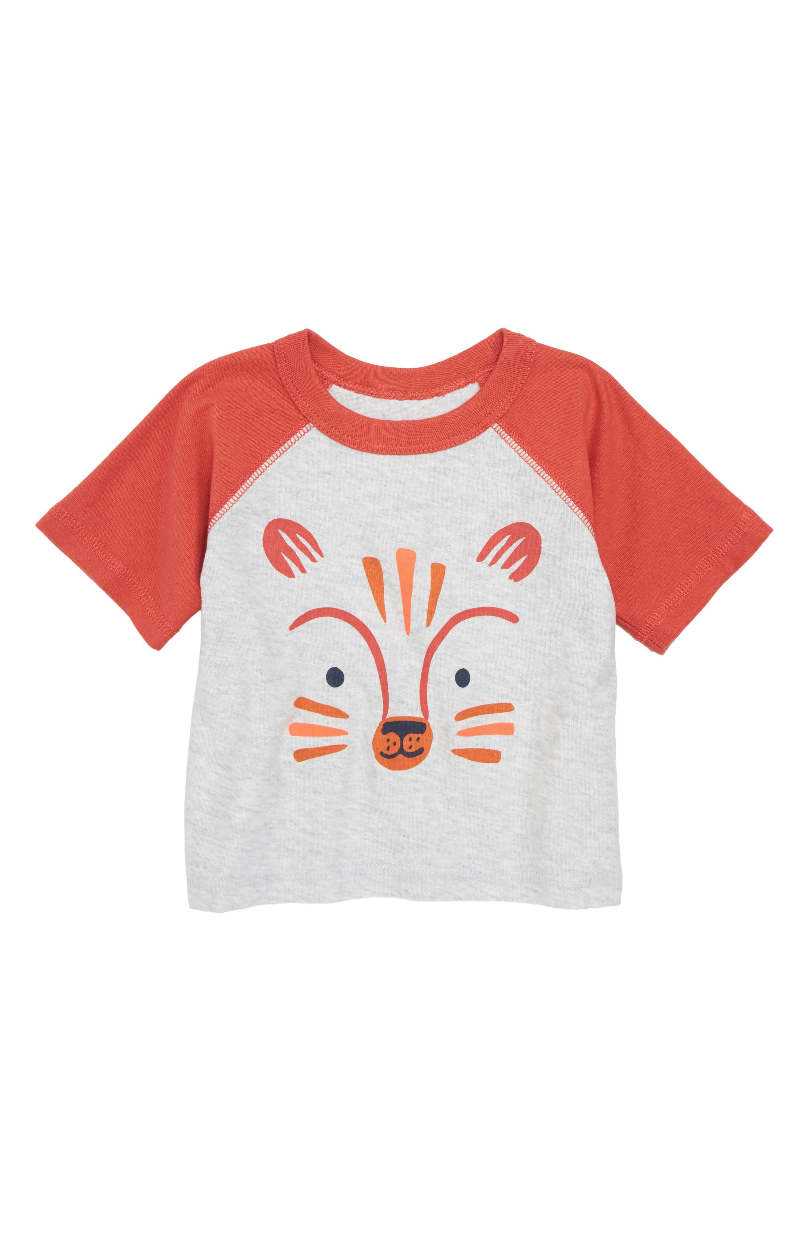 Fox T-Shirt,                         Main,                         color, Light Grey Heather