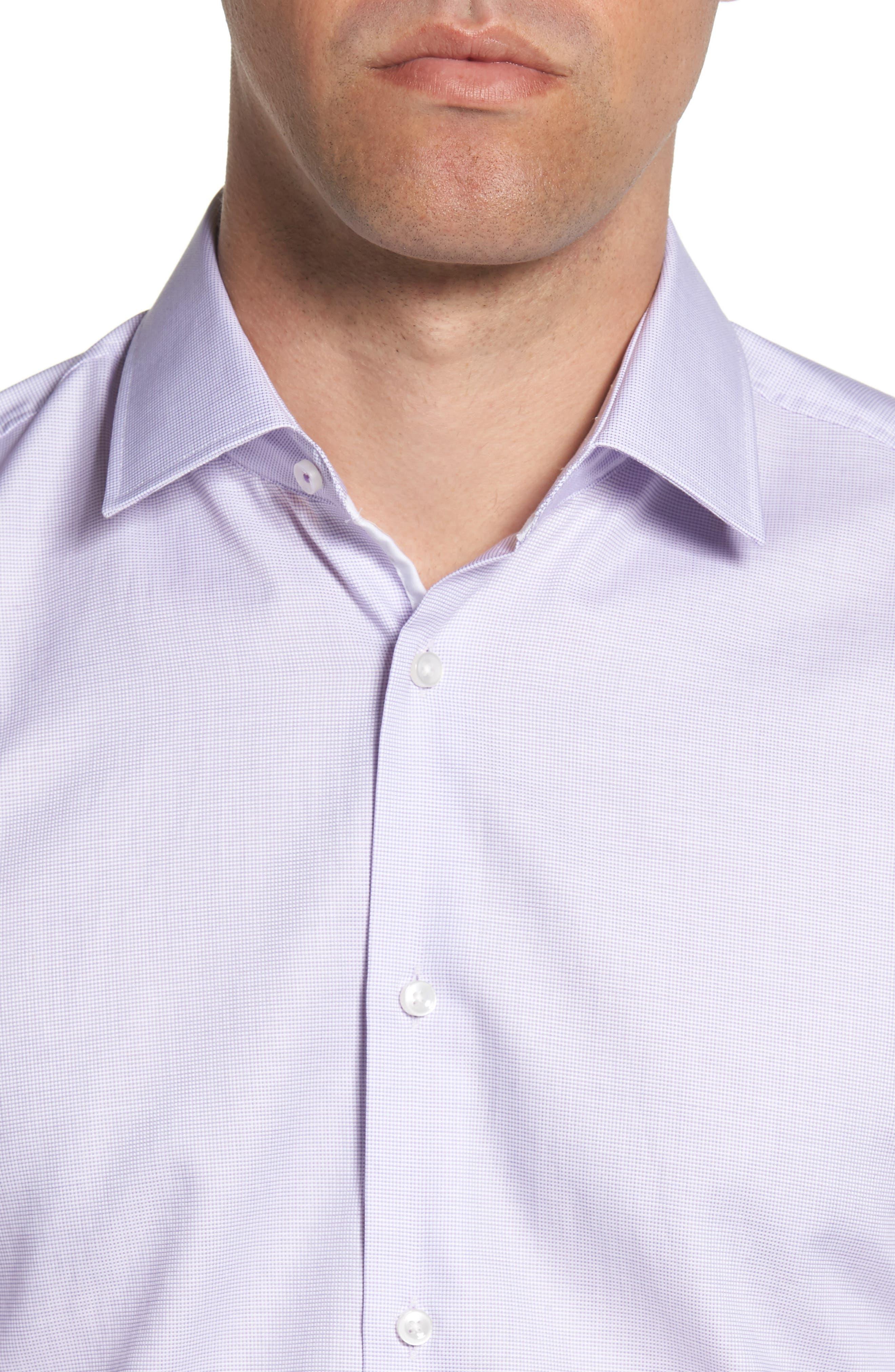 Jesse Slim Fit Dress Shirt,                             Alternate thumbnail 2, color,                             Purple