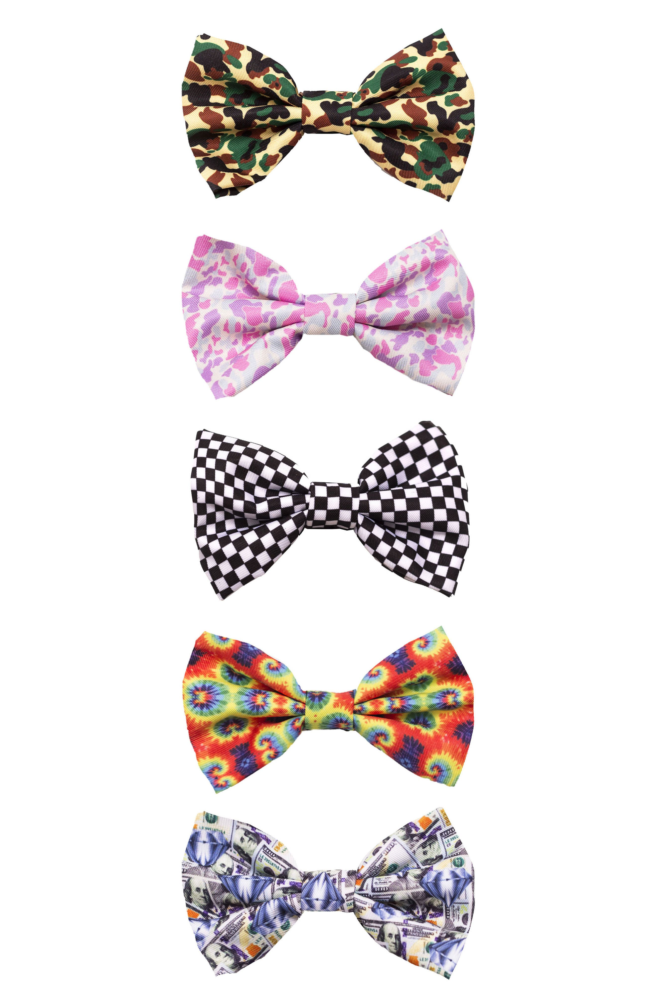 Set of 4 Dog Bowties,                         Main,                         color, Multi