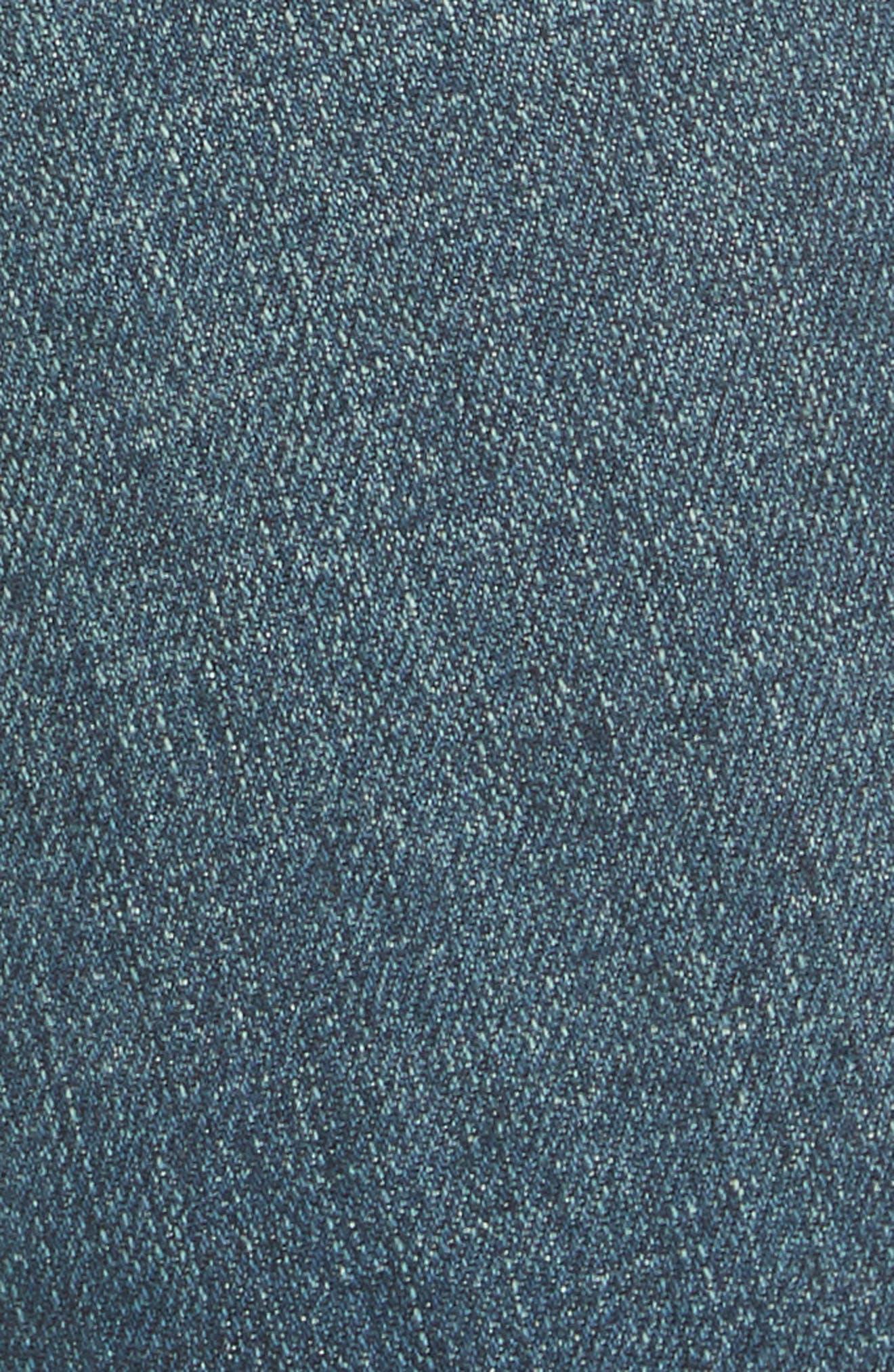 Studded Crop Flare Jeans,                             Alternate thumbnail 3, color,                             Dark Denim