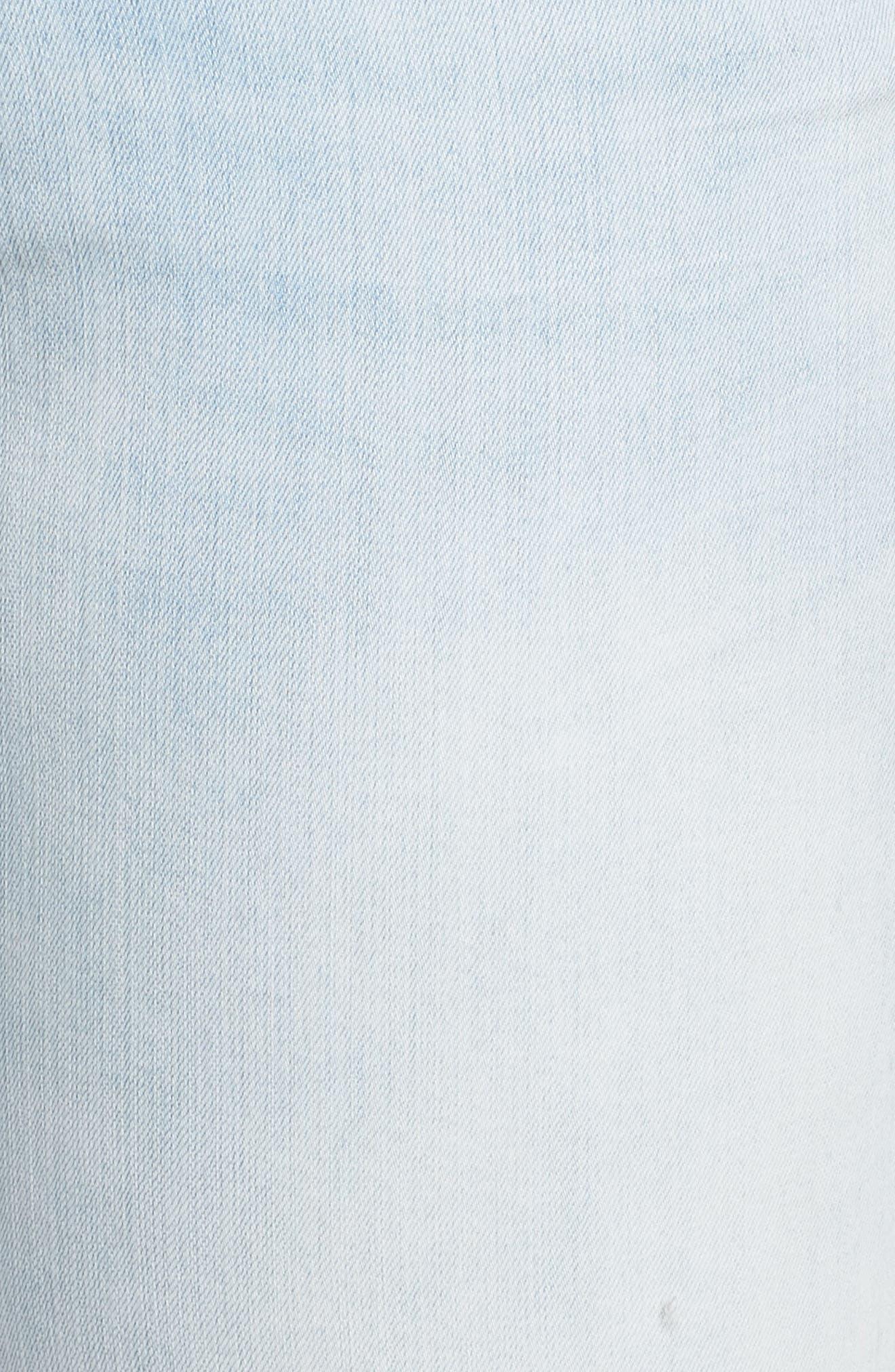 Distressed Boyfriend Jeans,                             Alternate thumbnail 5, color,                             Platinum Light Wash