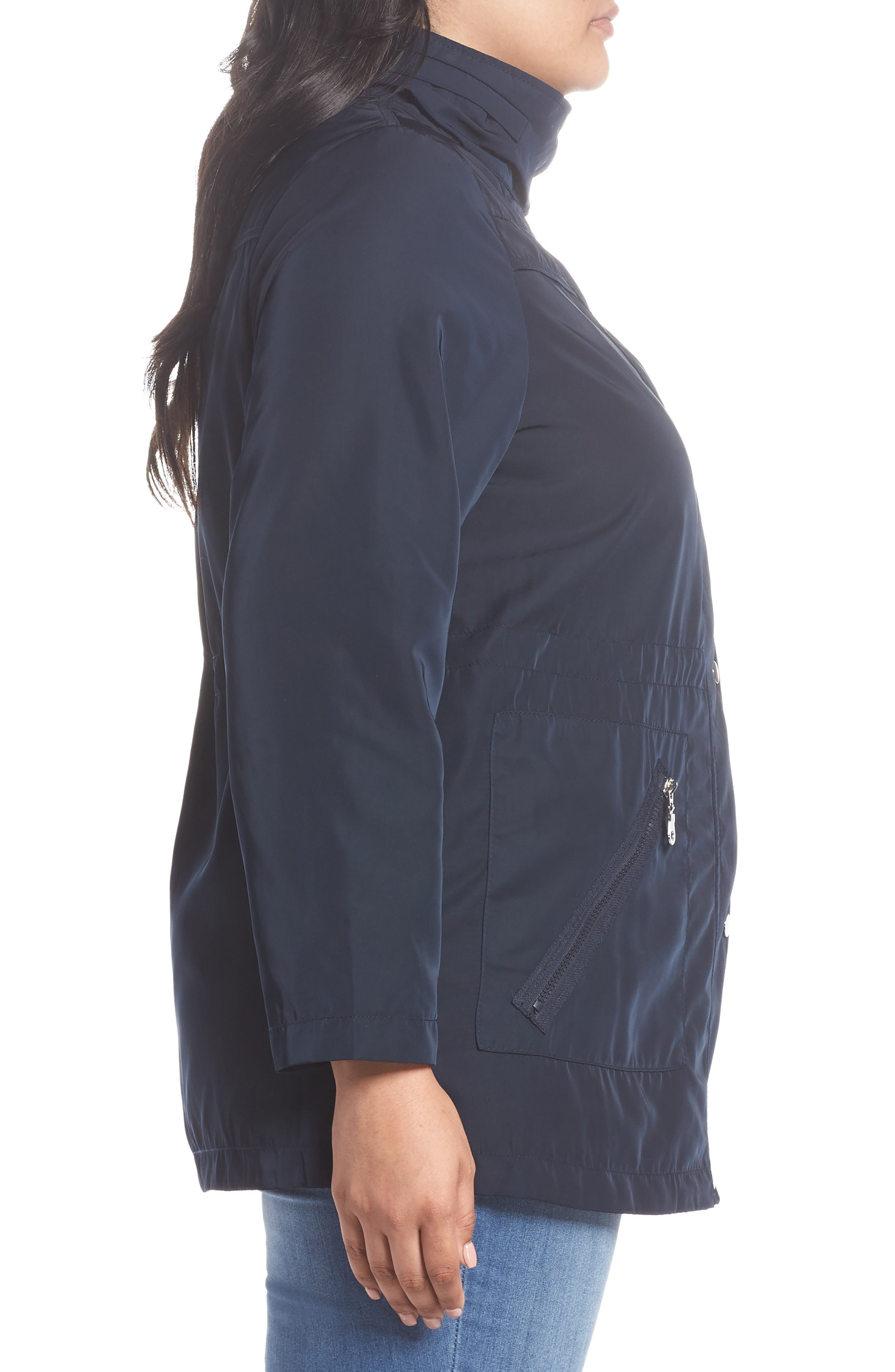 Zip Trim Jacket,                             Alternate thumbnail 7, color,                             Navy Blue