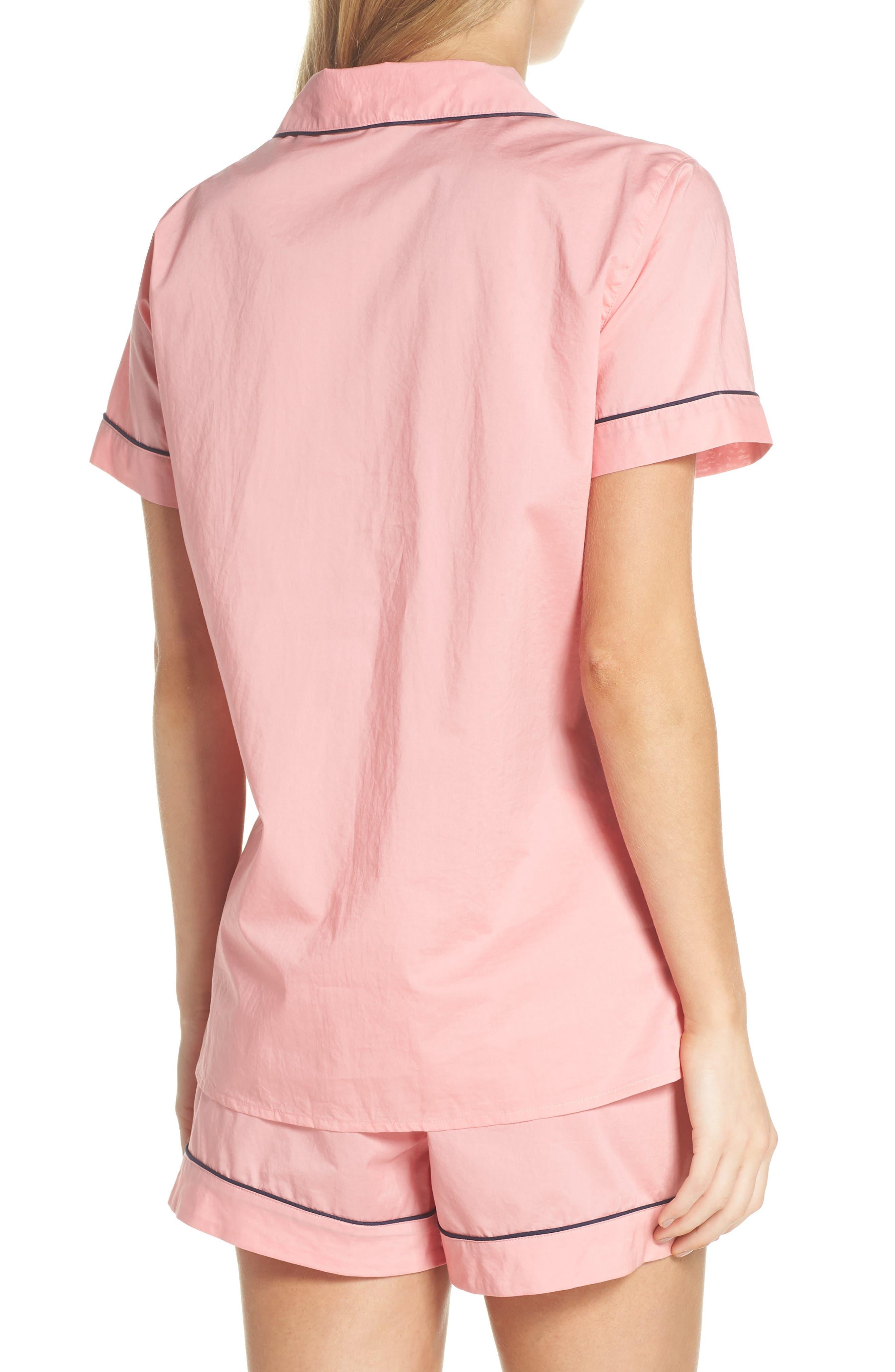 Tipped Short Pajamas,                             Alternate thumbnail 2, color,                             Cool Pink