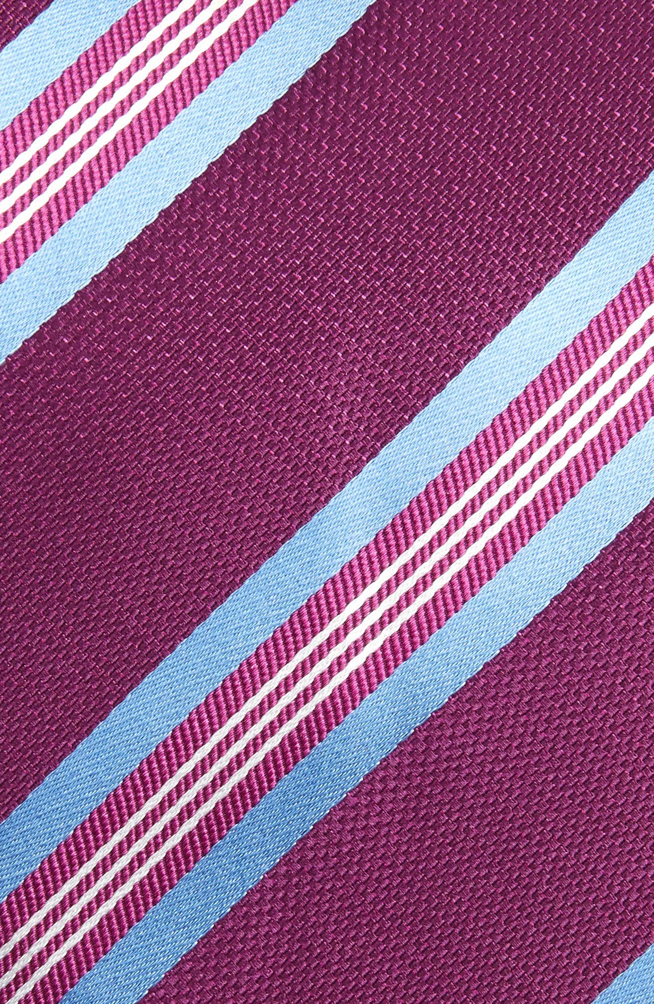 Striped Silk Tie,                             Alternate thumbnail 2, color,                             Berry