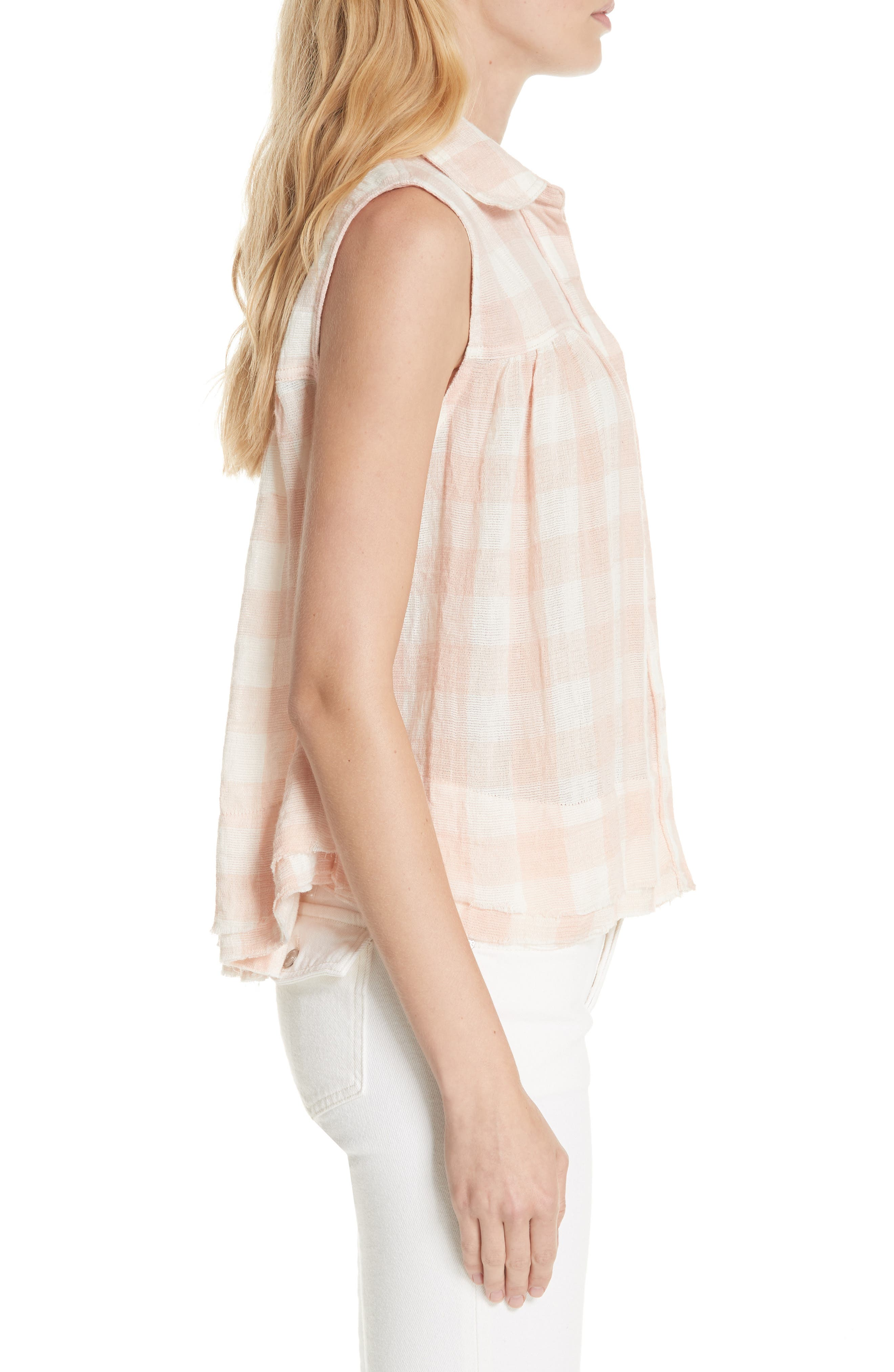 Hey There Sunrise Button Front Shirt,                             Alternate thumbnail 3, color,                             Pink