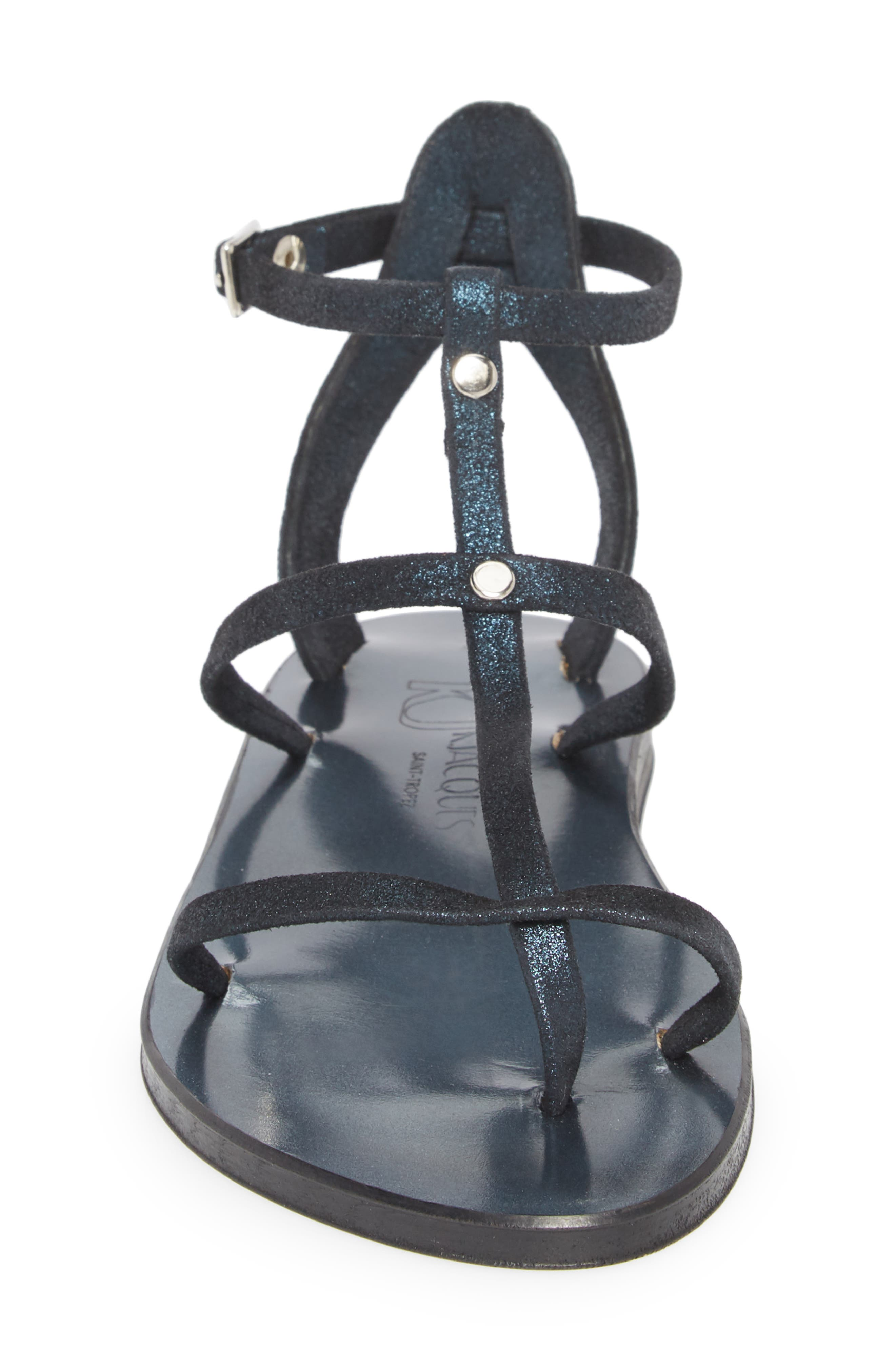 Alep Sandal,                             Alternate thumbnail 4, color,                             Azul Noce Leather